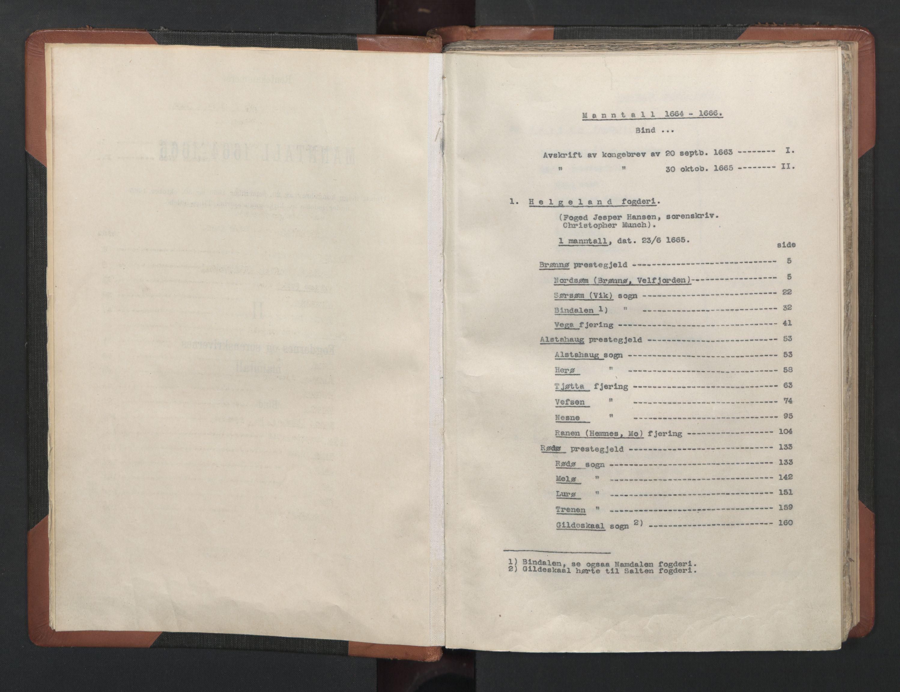 RA, Fogdenes og sorenskrivernes manntall 1664-1666, nr. 20: Fogderier (len og skipreider) i nåværende Nordland fylke, Troms fylke og Finnmark fylke, 1665, s. upaginert
