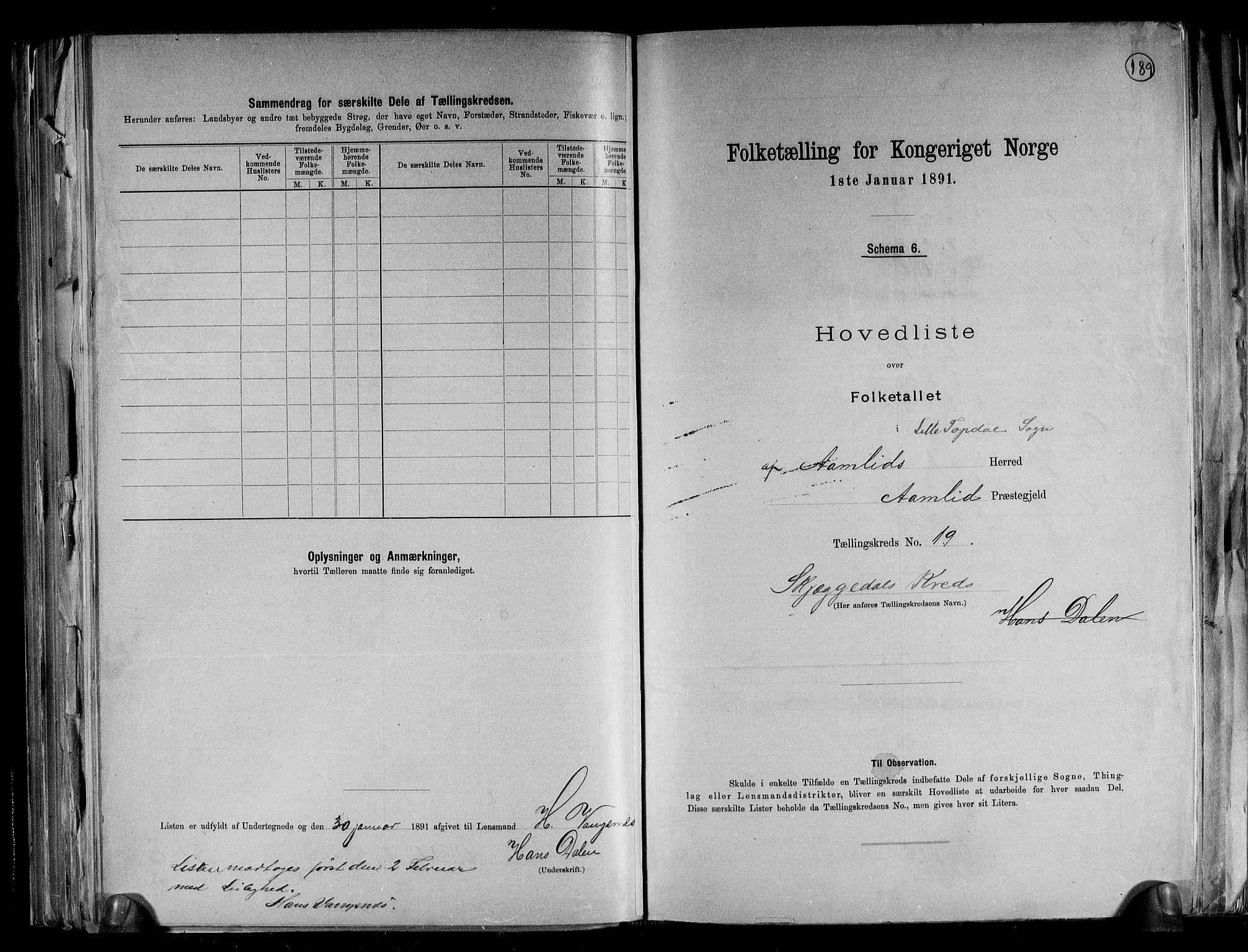 RA, Folketelling 1891 for 0929 Åmli herred, 1891, s. 41