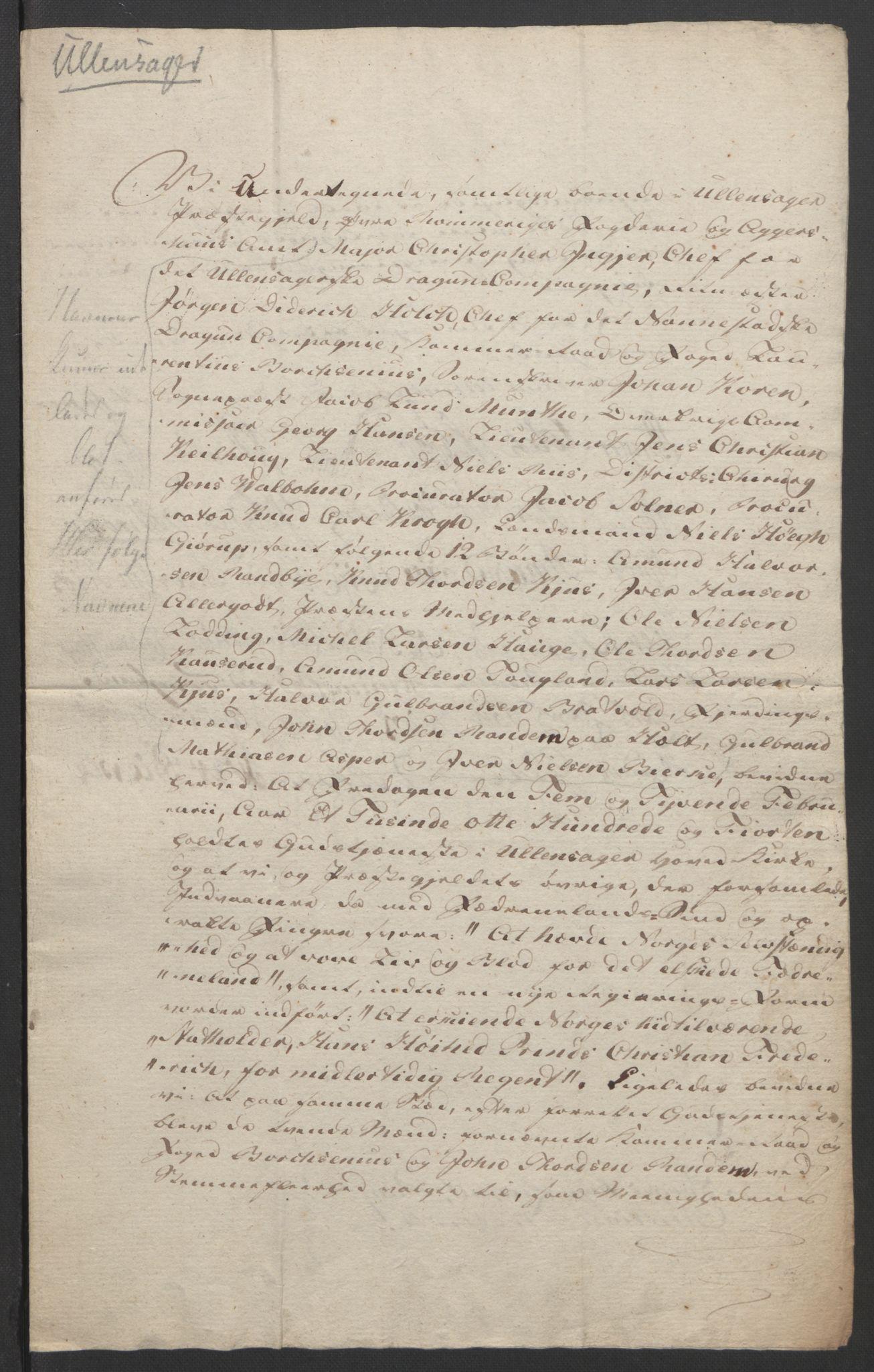 RA, Statsrådssekretariatet, D/Db/L0007: Fullmakter for Eidsvollsrepresentantene i 1814. , 1814, s. 206