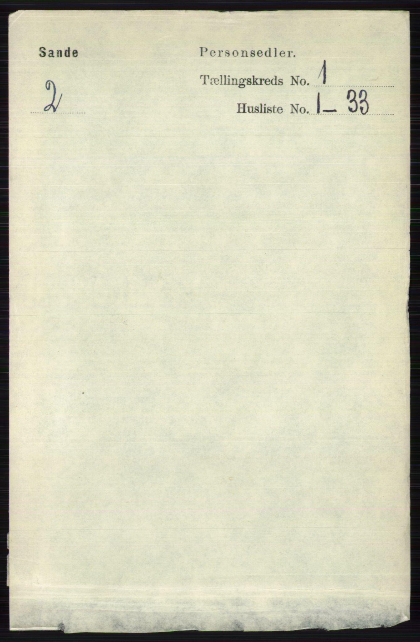 RA, Folketelling 1891 for 0713 Sande herred, 1891, s. 92