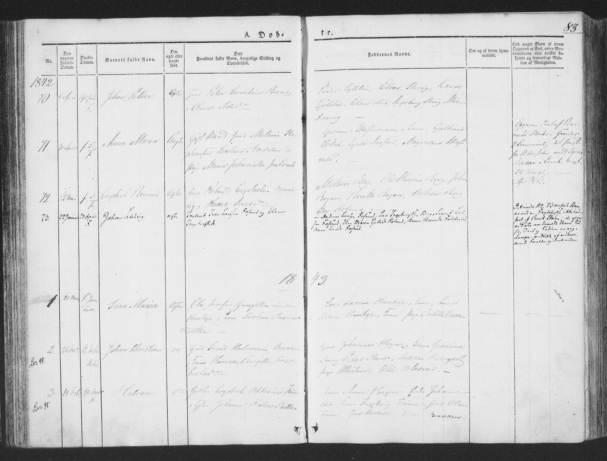 SAT, Ministerialprotokoller, klokkerbøker og fødselsregistre - Nord-Trøndelag, 780/L0639: Ministerialbok nr. 780A04, 1830-1844, s. 83