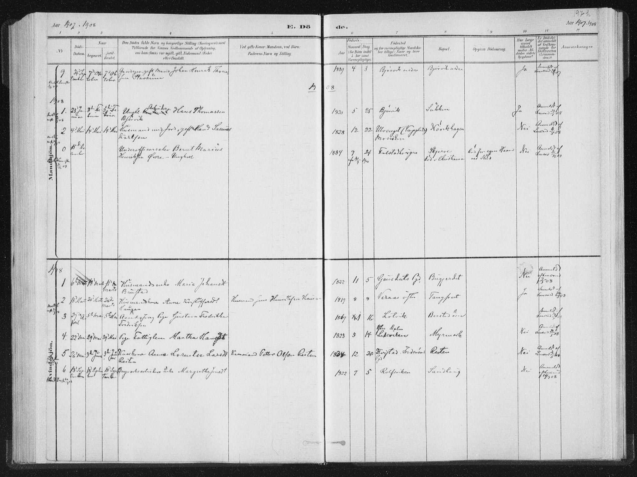 SAT, Ministerialprotokoller, klokkerbøker og fødselsregistre - Nord-Trøndelag, 722/L0220: Ministerialbok nr. 722A07, 1881-1908, s. 197h