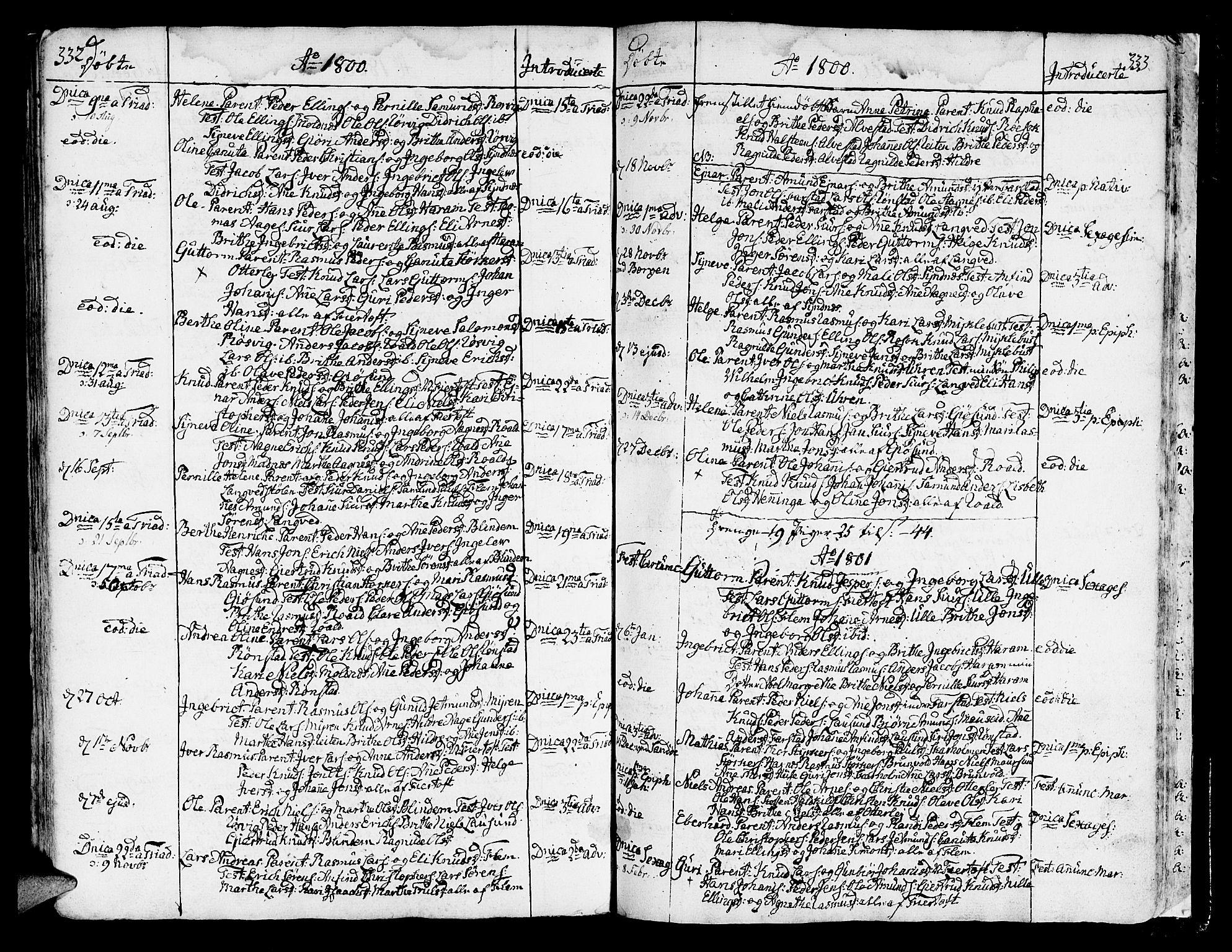 SAT, Ministerialprotokoller, klokkerbøker og fødselsregistre - Møre og Romsdal, 536/L0493: Ministerialbok nr. 536A02, 1739-1802, s. 332-333