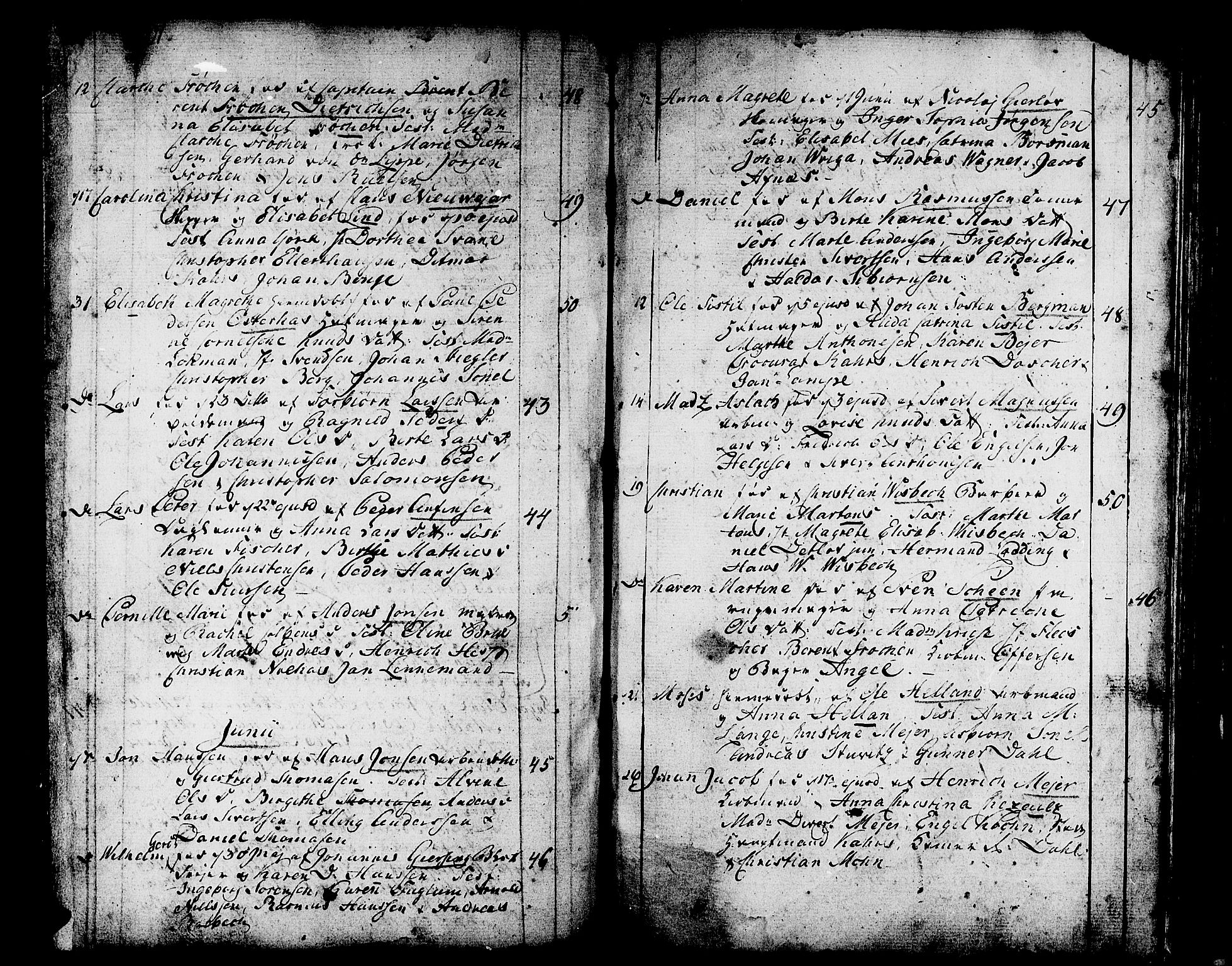 SAB, Domkirken sokneprestembete, H/Haa/L0004: Ministerialbok nr. A 4, 1763-1820, s. 254-255