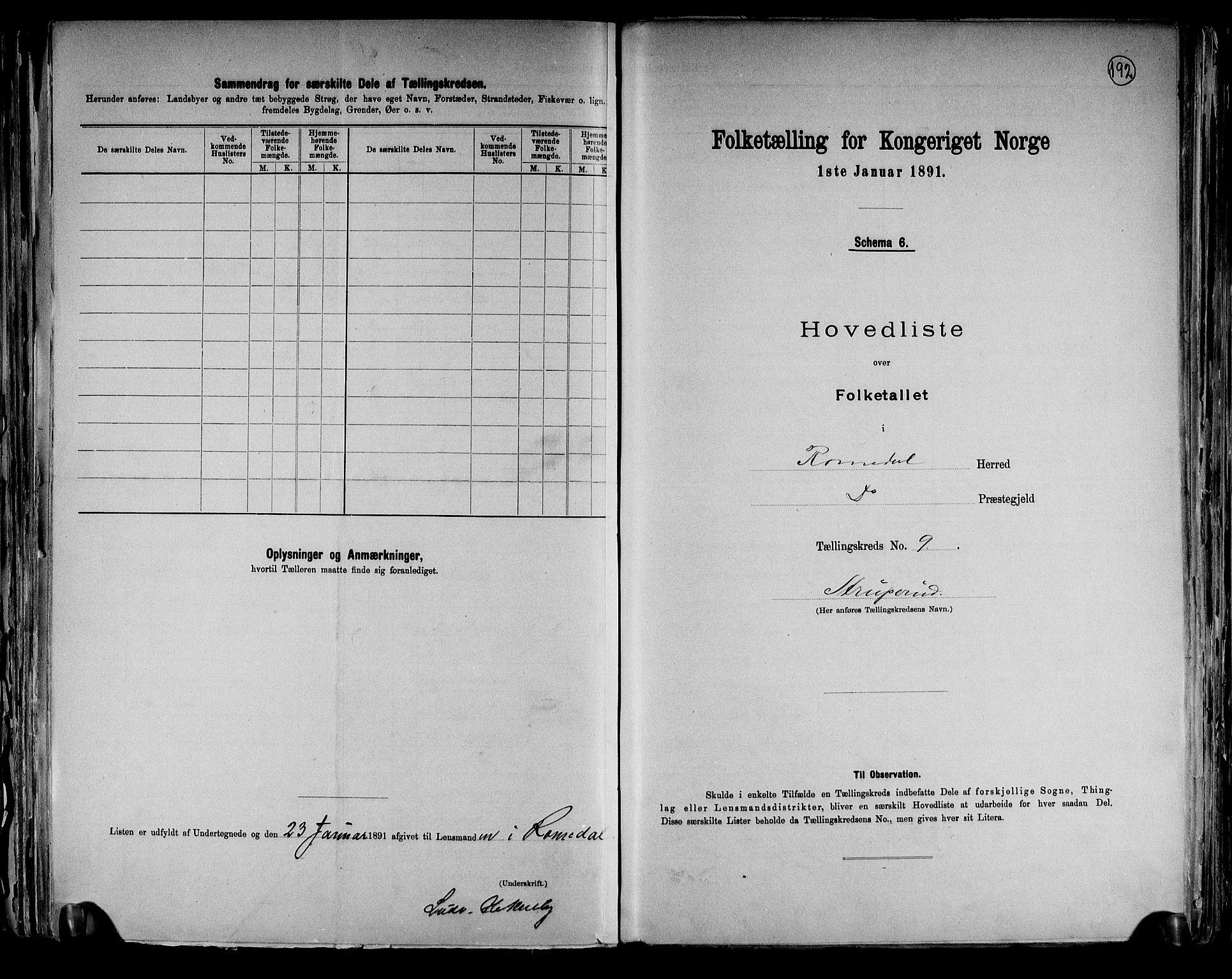 RA, Folketelling 1891 for 0416 Romedal herred, 1891, s. 21