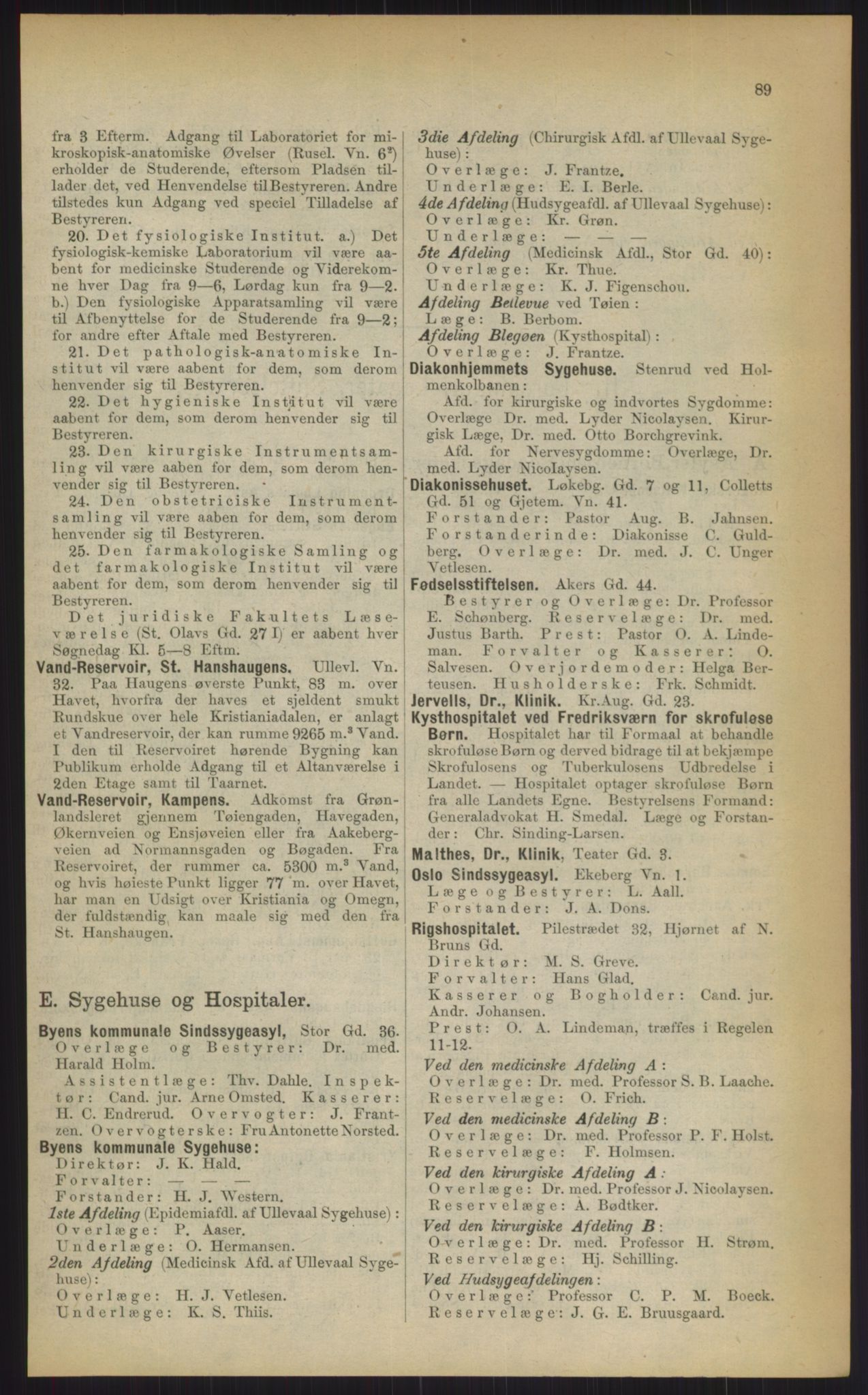 RA, Kristiania adressebok (publikasjon)*, 1903, s. 89
