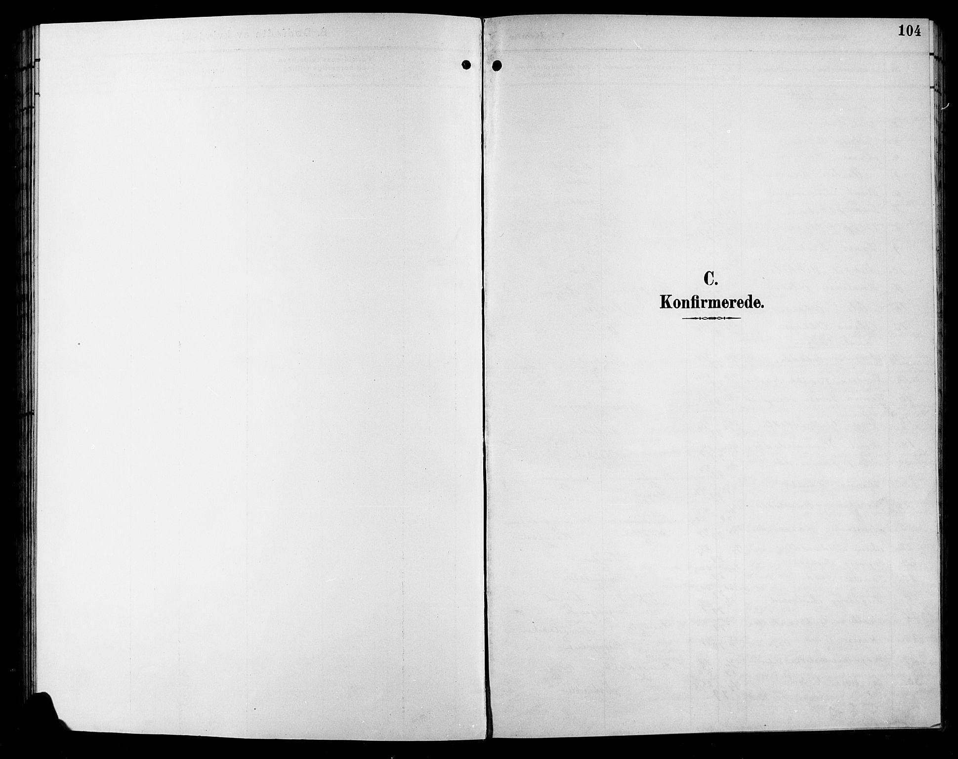 SAH, Sør-Aurdal prestekontor, Klokkerbok nr. 9, 1894-1924, s. 104