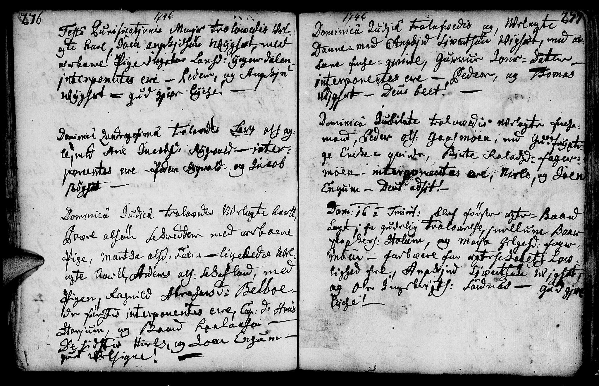 SAT, Ministerialprotokoller, klokkerbøker og fødselsregistre - Nord-Trøndelag, 749/L0467: Ministerialbok nr. 749A01, 1733-1787, s. 276-277