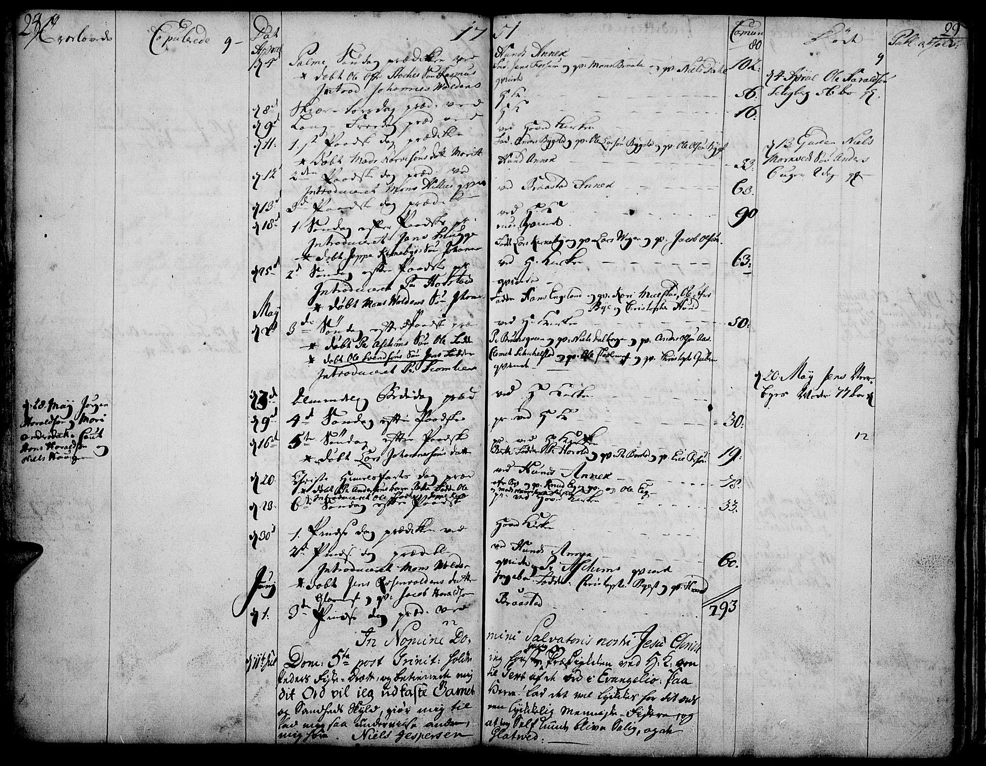 SAH, Vardal prestekontor, H/Ha/Haa/L0002: Ministerialbok nr. 2, 1748-1776, s. 28-29