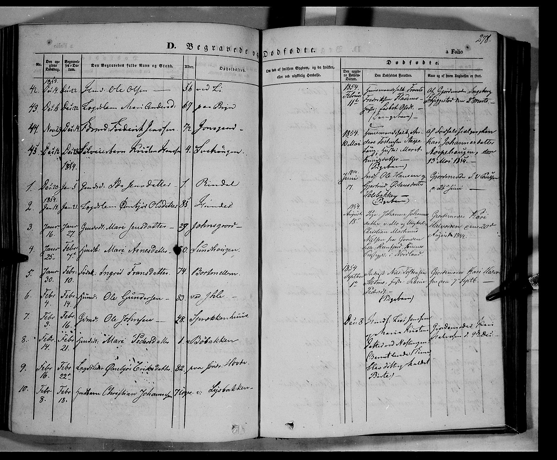 SAH, Øyer prestekontor, Ministerialbok nr. 5, 1842-1857, s. 278