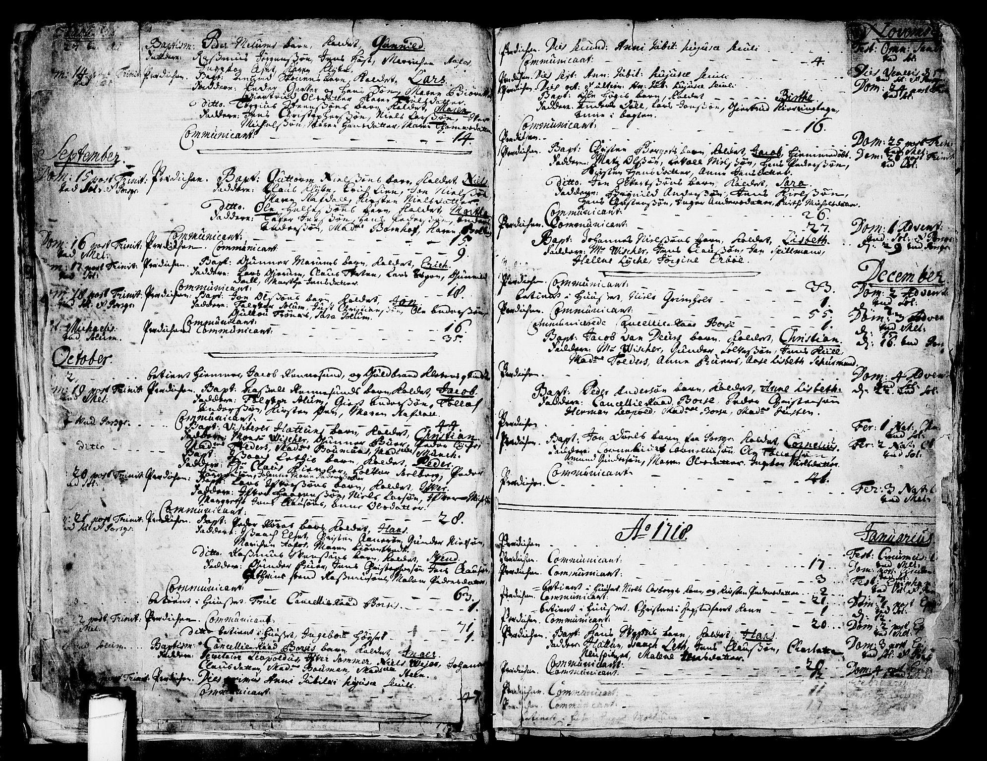 SAKO, Solum kirkebøker, F/Fa/L0002: Ministerialbok nr. I 2, 1713-1761, s. 11