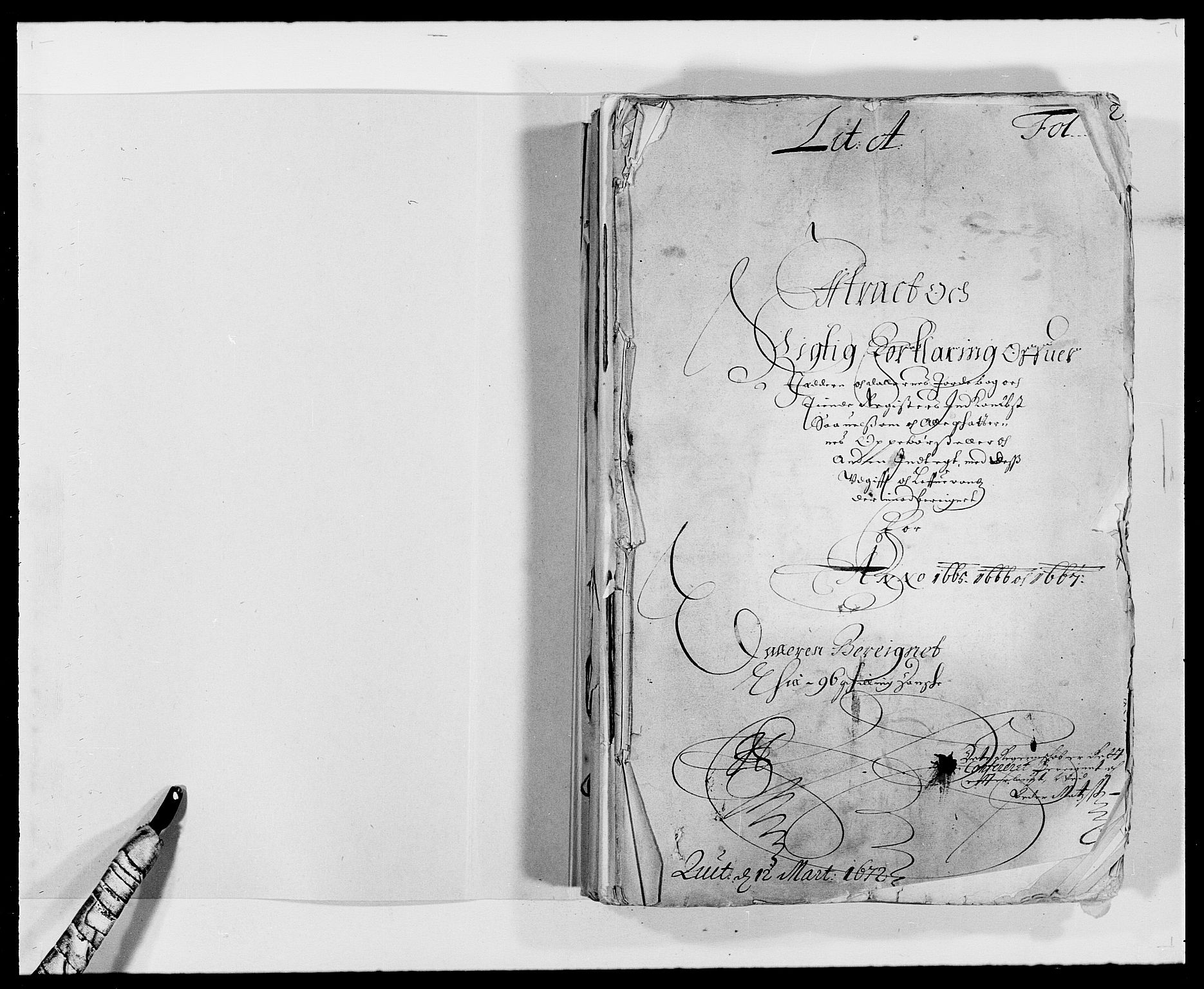RA, Rentekammeret inntil 1814, Reviderte regnskaper, Fogderegnskap, R46/L2709: Fogderegnskap Jæren og Dalane, 1665-1667, s. 2