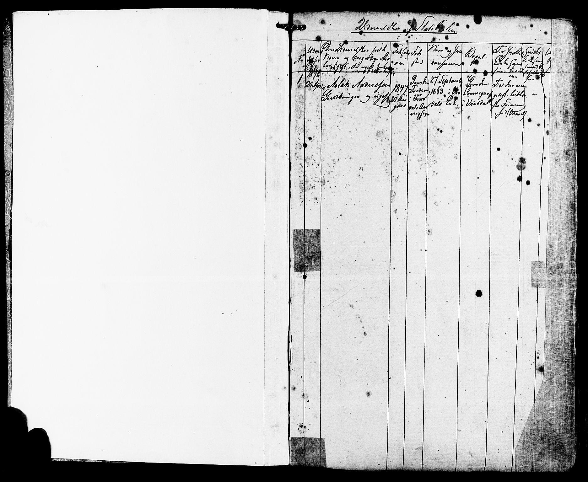 SAKO, Kviteseid kirkebøker, F/Fa/L0007: Ministerialbok nr. I 7, 1859-1881