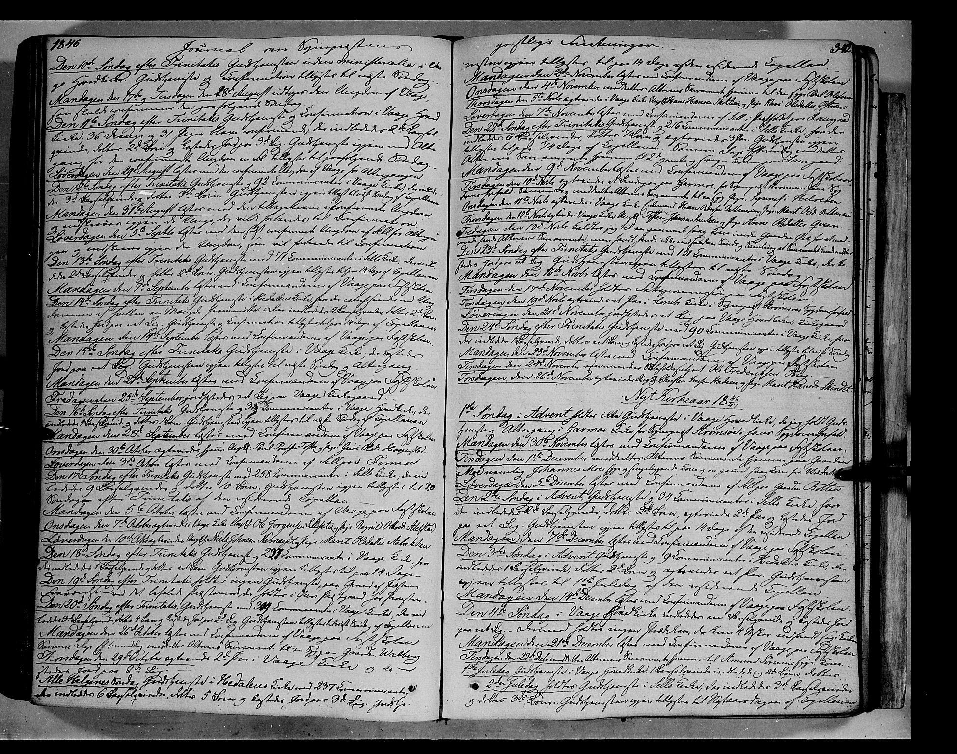 SAH, Vågå prestekontor, Ministerialbok nr. 5 /1, 1842-1856, s. 342