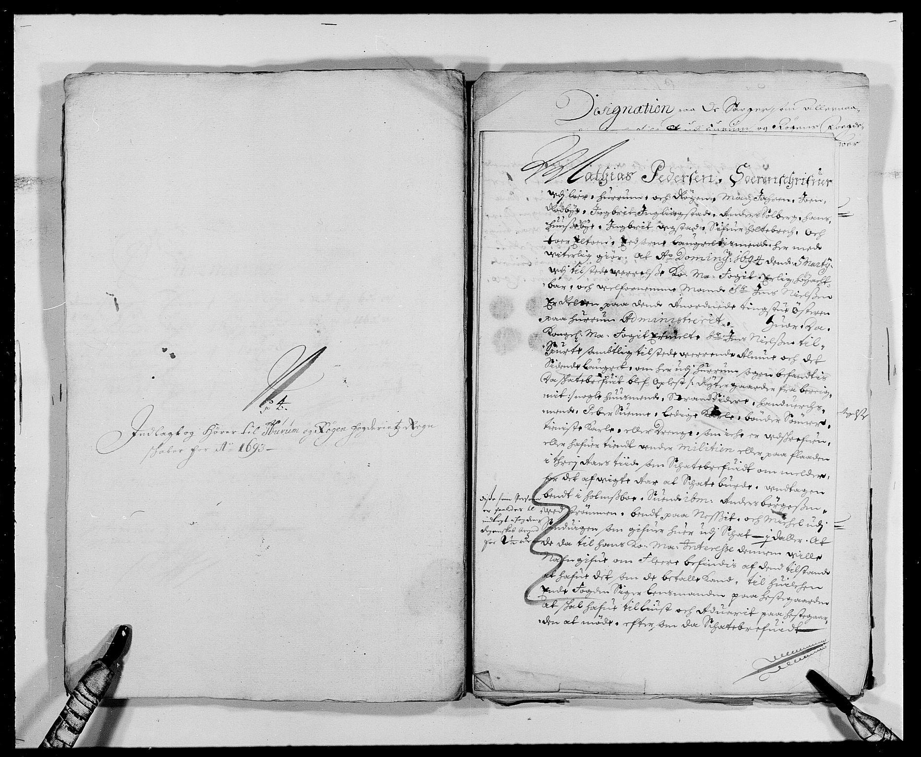 RA, Rentekammeret inntil 1814, Reviderte regnskaper, Fogderegnskap, R29/L1693: Fogderegnskap Hurum og Røyken, 1688-1693, s. 502