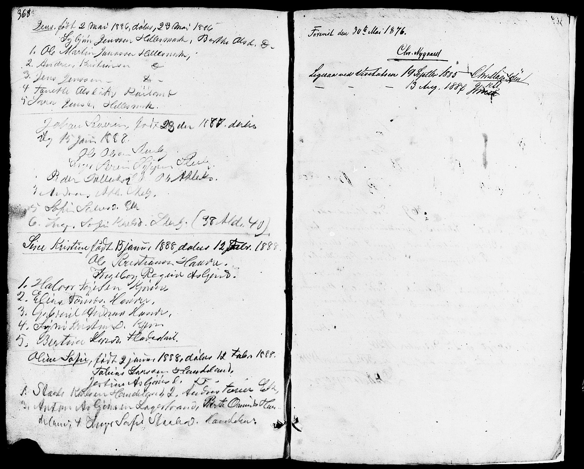 SAST, Lund sokneprestkontor, Klokkerbok nr. B 3, 1848-1885, s. 368