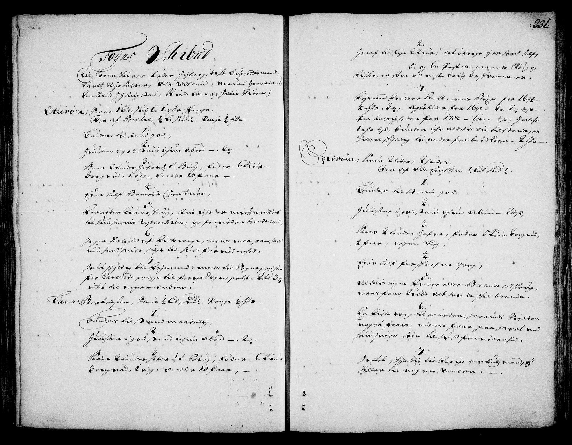RA, Rentekammeret inntil 1814, Realistisk ordnet avdeling, On/L0002: [Jj 3]: Besiktigelsesforretninger over Halsnøy klosters gods, 1659-1703, s. 330b-331a