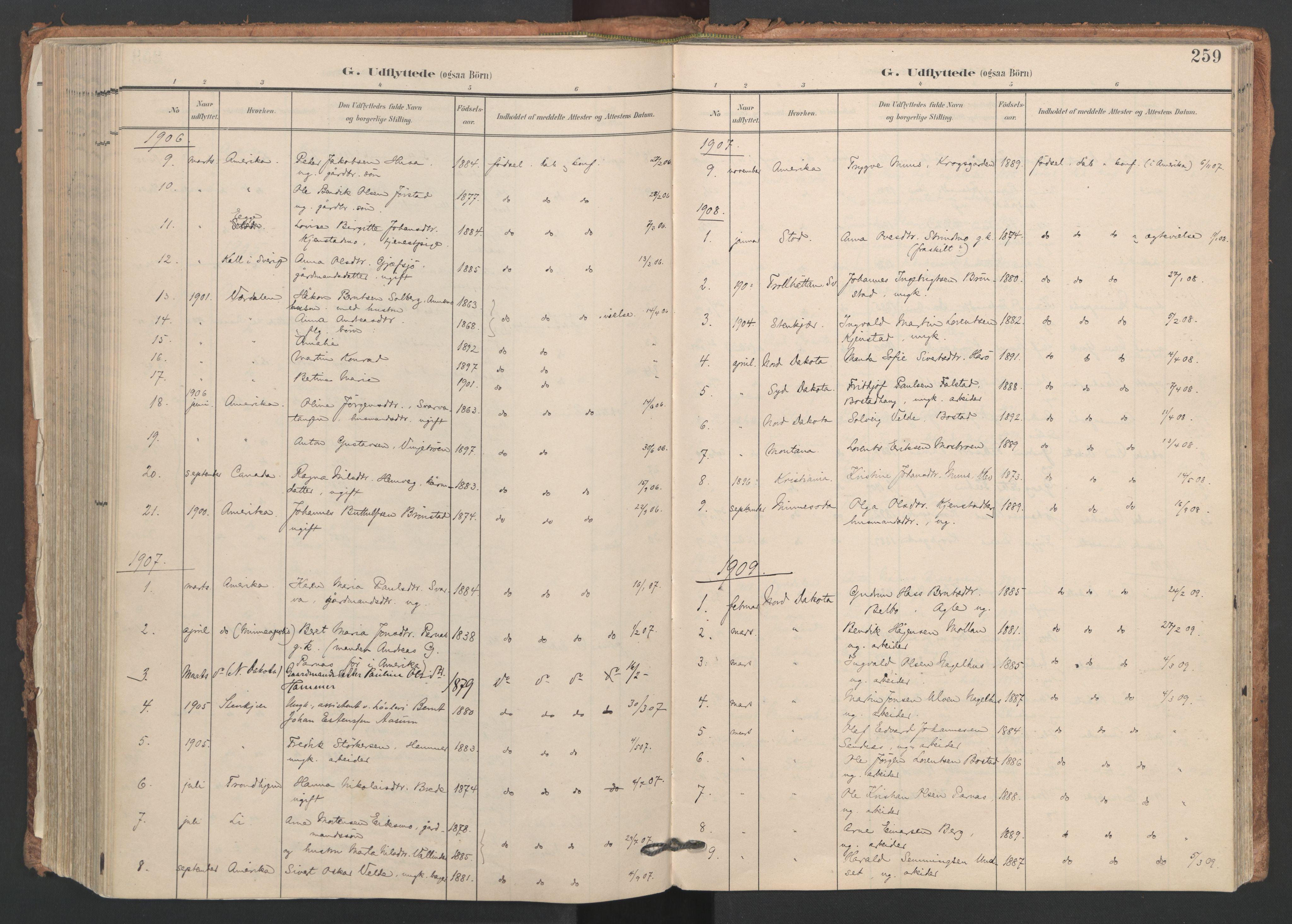 SAT, Ministerialprotokoller, klokkerbøker og fødselsregistre - Nord-Trøndelag, 749/L0477: Ministerialbok nr. 749A11, 1902-1927, s. 259