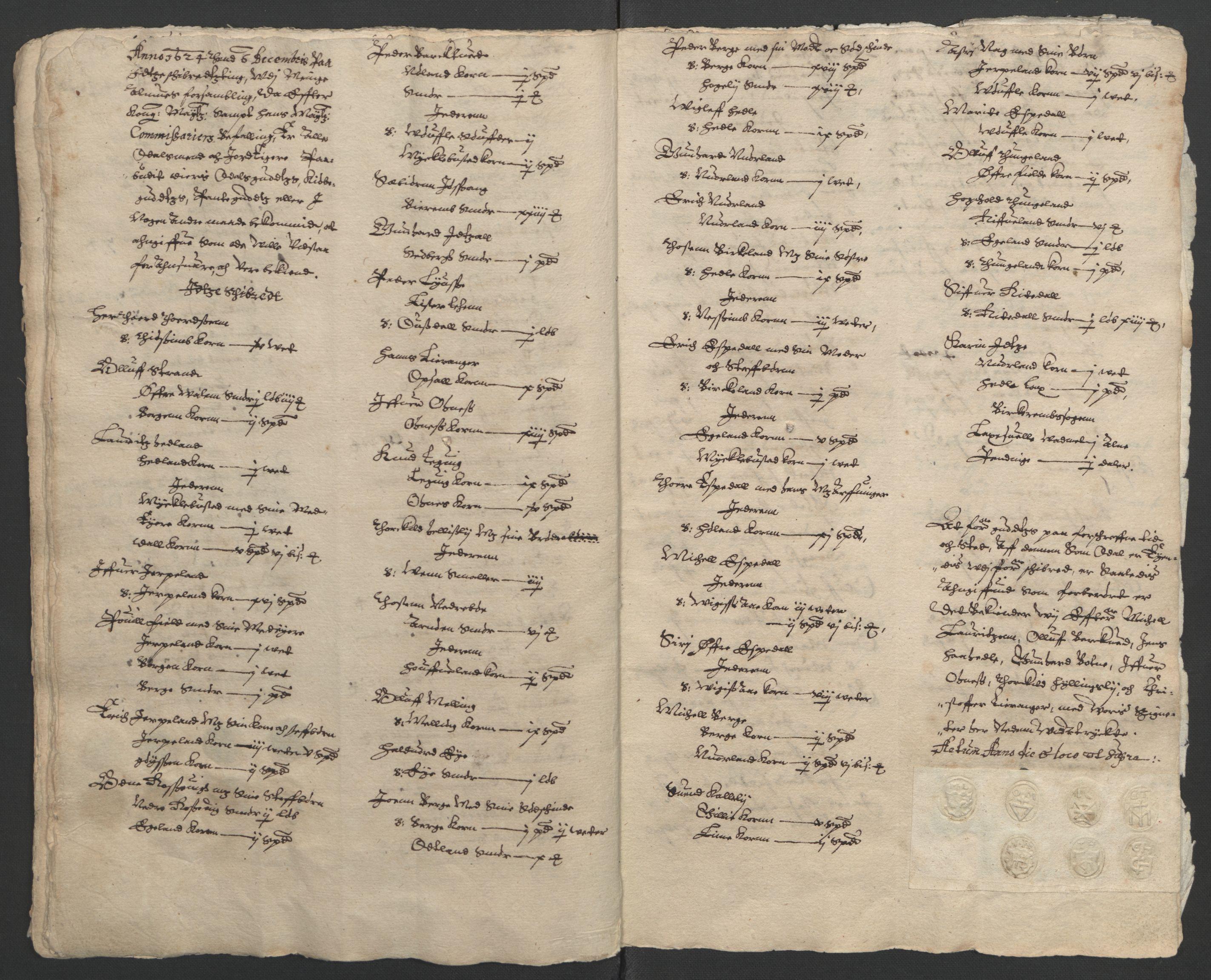 RA, Stattholderembetet 1572-1771, Ek/L0010: Jordebøker til utlikning av rosstjeneste 1624-1626:, 1624-1626, s. 29