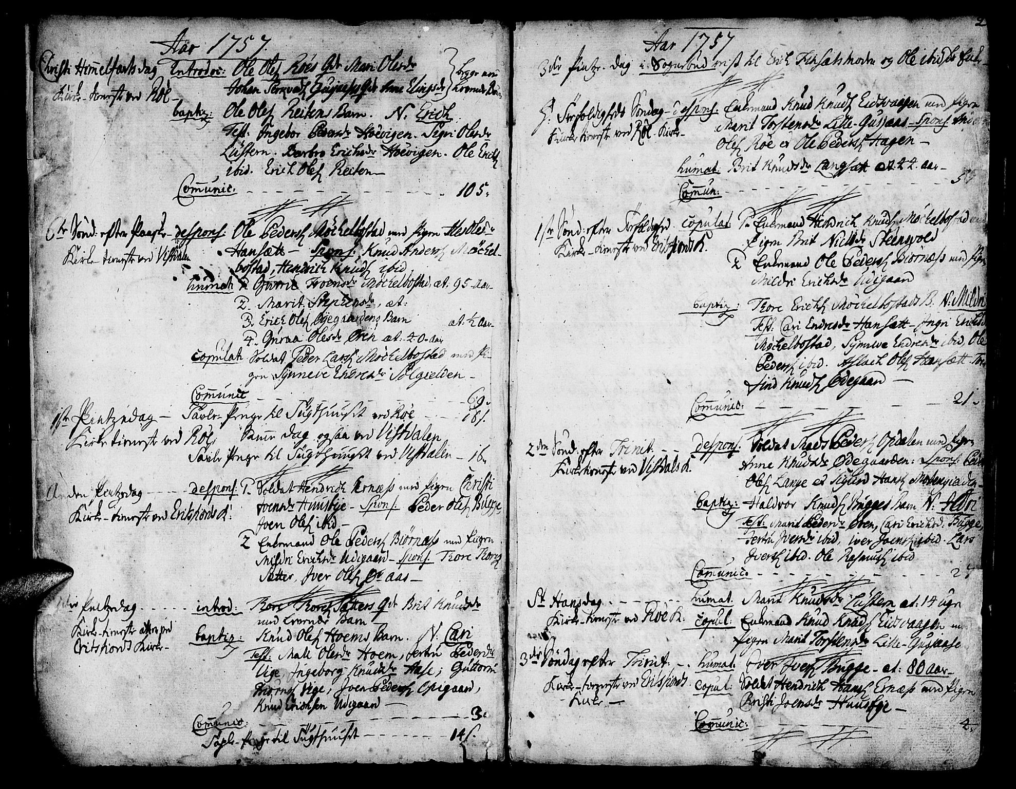 SAT, Ministerialprotokoller, klokkerbøker og fødselsregistre - Møre og Romsdal, 551/L0621: Ministerialbok nr. 551A01, 1757-1803, s. 2