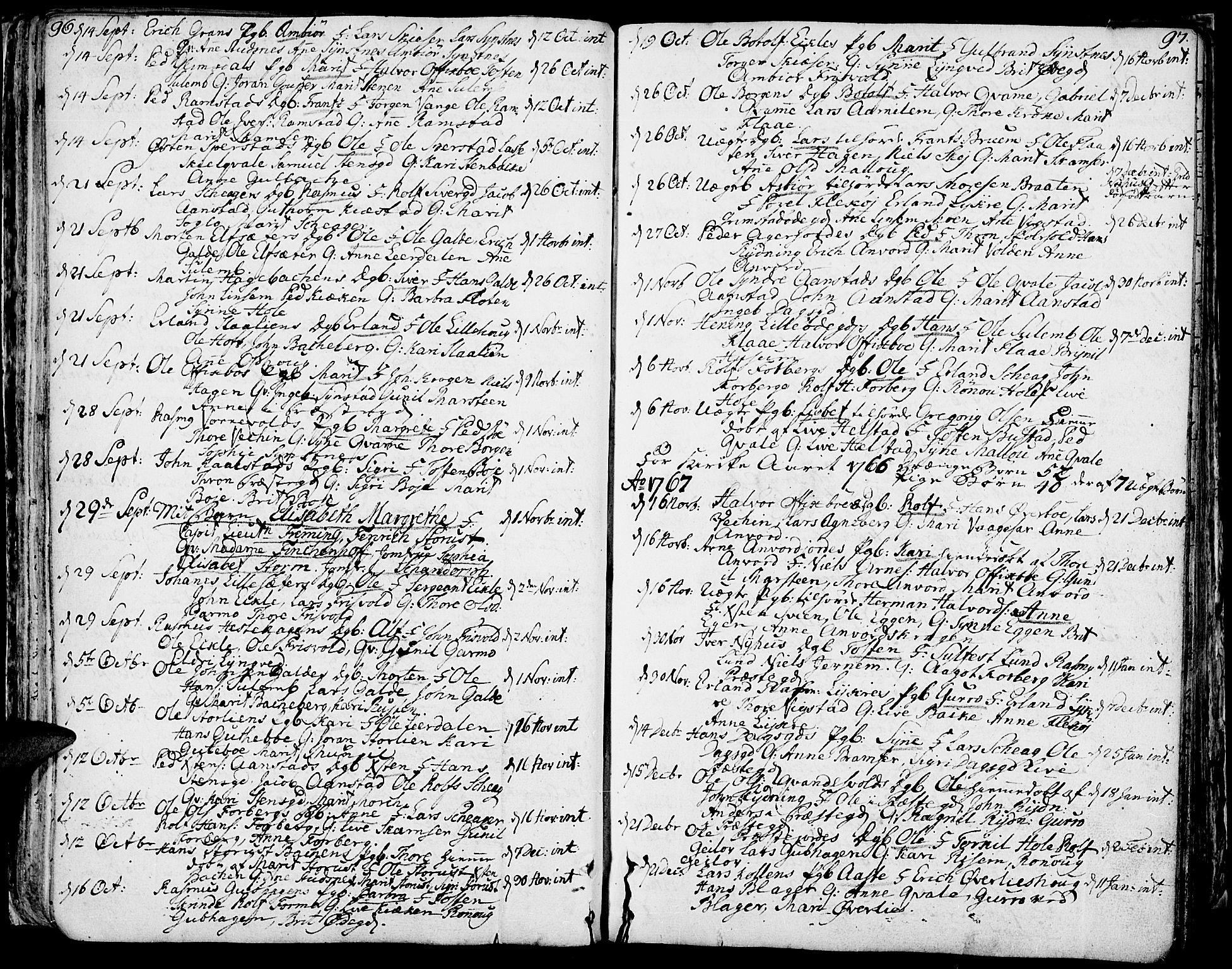 SAH, Lom prestekontor, K/L0002: Ministerialbok nr. 2, 1749-1801, s. 96-97