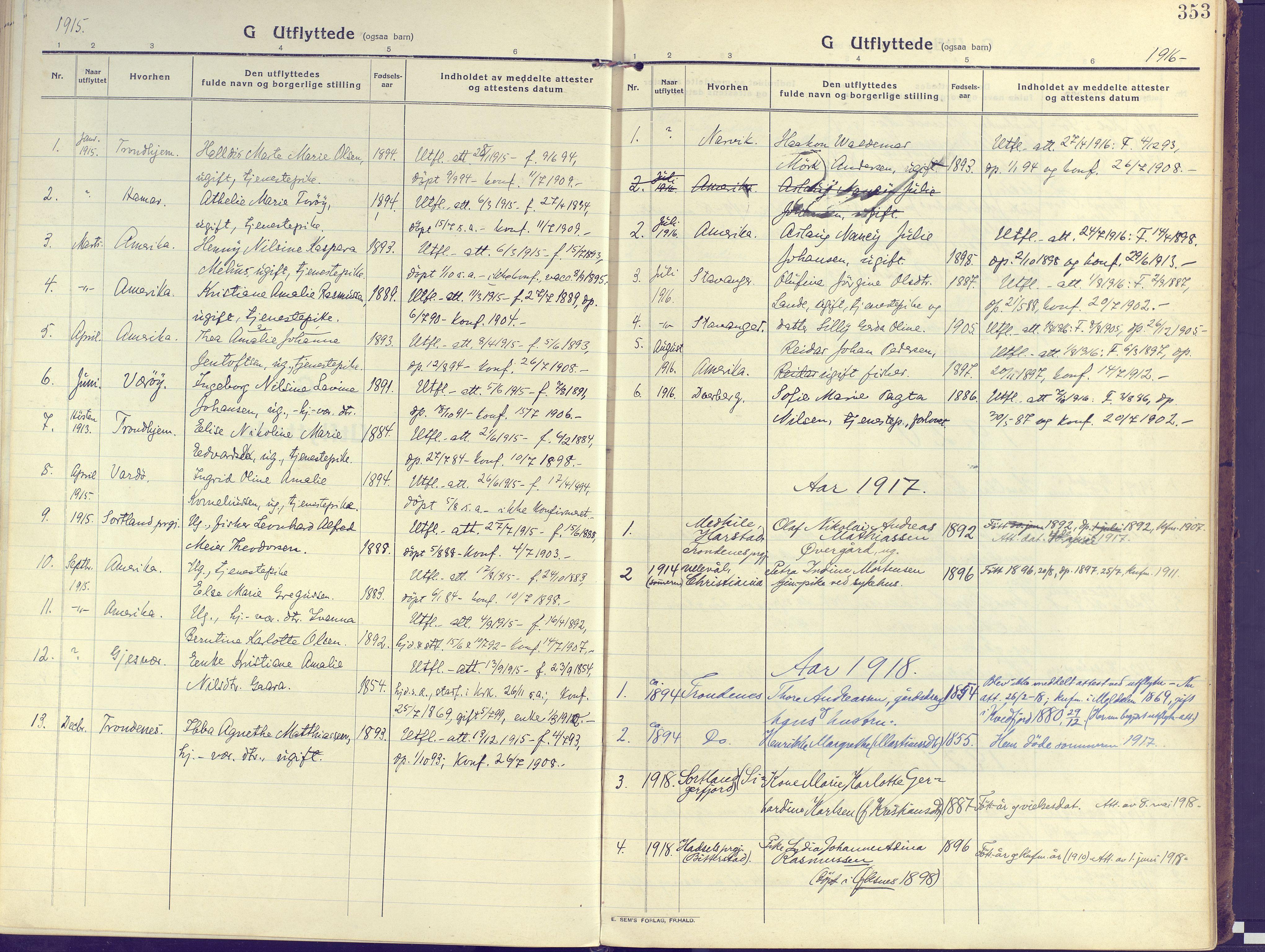 SATØ, Kvæfjord sokneprestkontor, G/Ga/Gaa/L0007kirke: Ministerialbok nr. 7, 1915-1931, s. 353