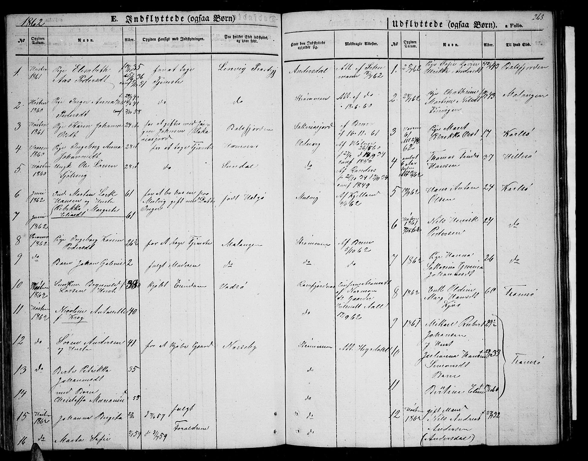 SATØ, Tromsøysund sokneprestkontor, G/Gb/L0001klokker: Klokkerbok nr. 1, 1857-1869, s. 268