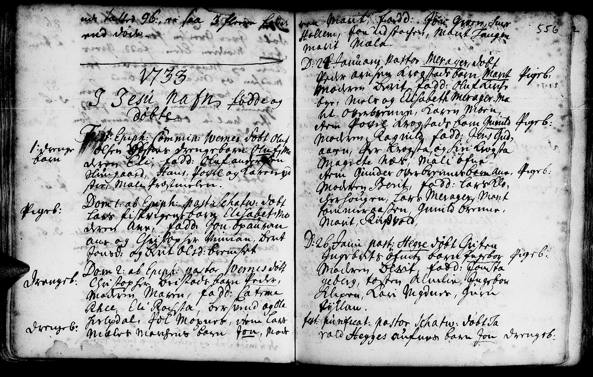 SAT, Ministerialprotokoller, klokkerbøker og fødselsregistre - Nord-Trøndelag, 709/L0055: Ministerialbok nr. 709A03, 1730-1739, s. 555-556