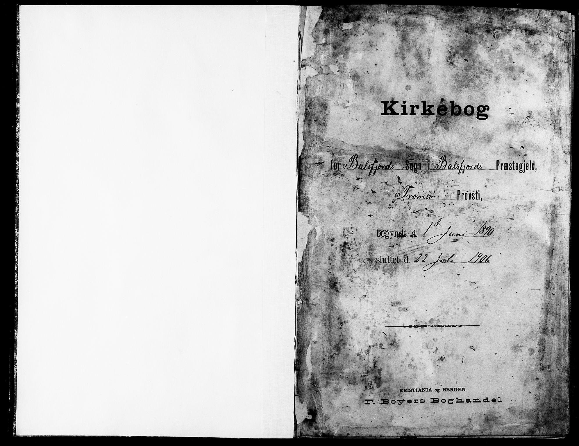 SATØ, Balsfjord sokneprestembete, Klokkerbok nr. 8, 1890-1906, s. 1