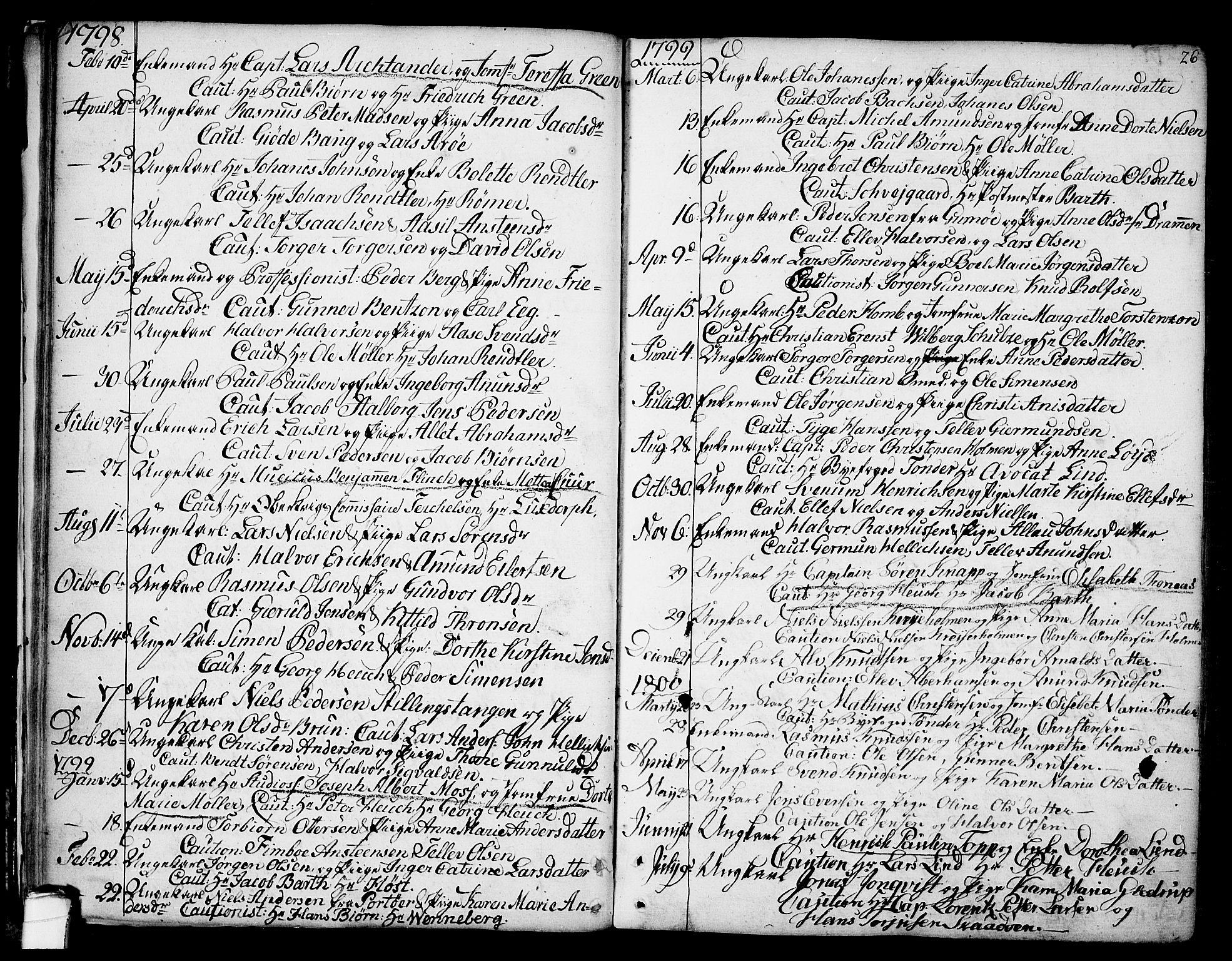SAKO, Kragerø kirkebøker, F/Fa/L0002: Ministerialbok nr. 2, 1767-1802, s. 26