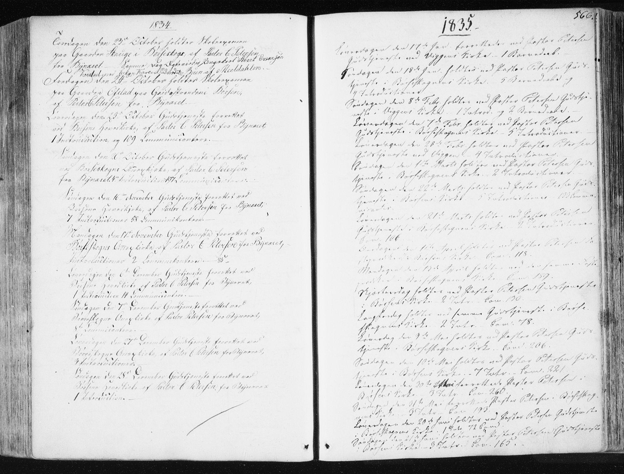 SAT, Ministerialprotokoller, klokkerbøker og fødselsregistre - Sør-Trøndelag, 665/L0771: Ministerialbok nr. 665A06, 1830-1856, s. 566