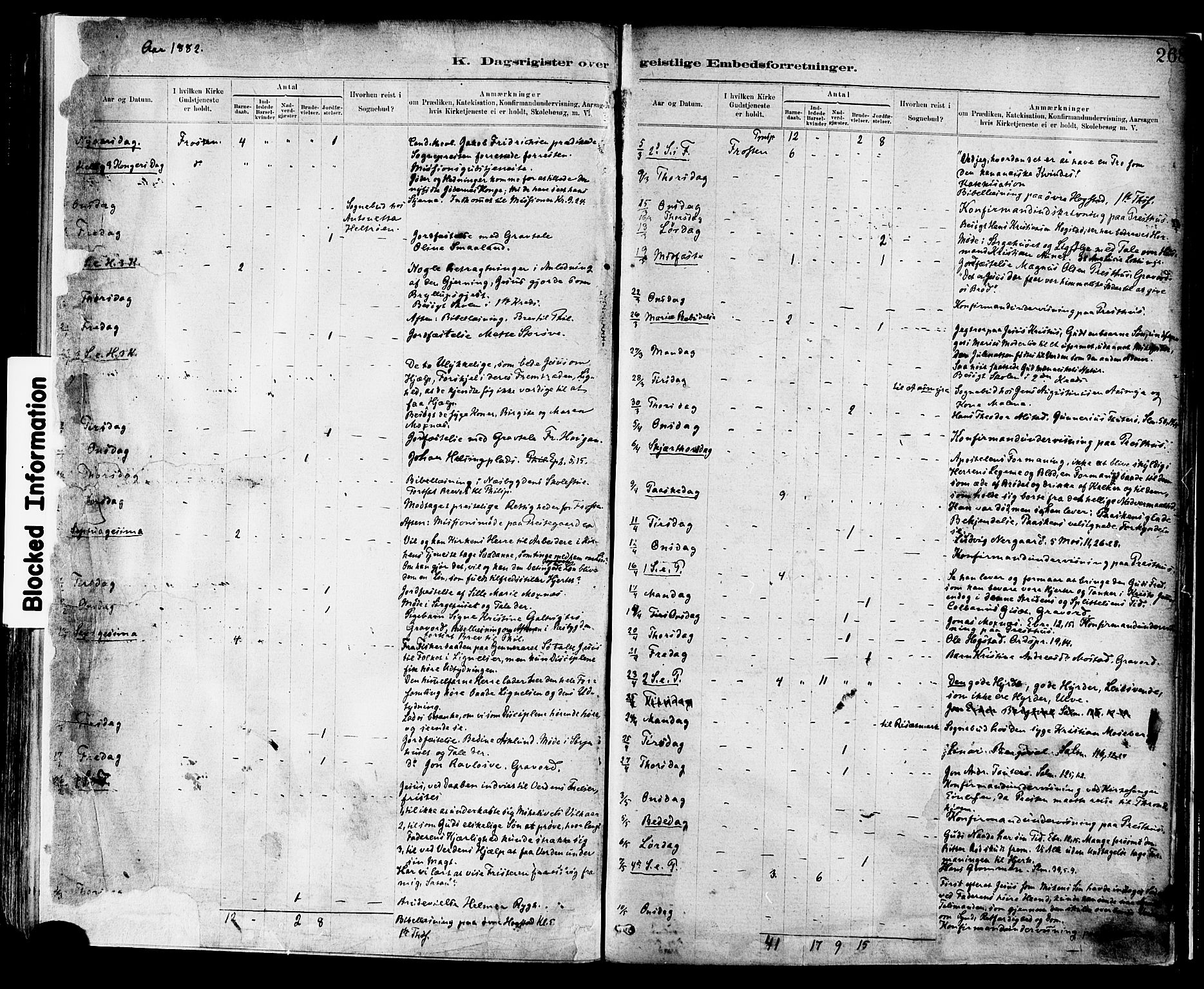 SAT, Ministerialprotokoller, klokkerbøker og fødselsregistre - Nord-Trøndelag, 713/L0120: Ministerialbok nr. 713A09, 1878-1887, s. 268