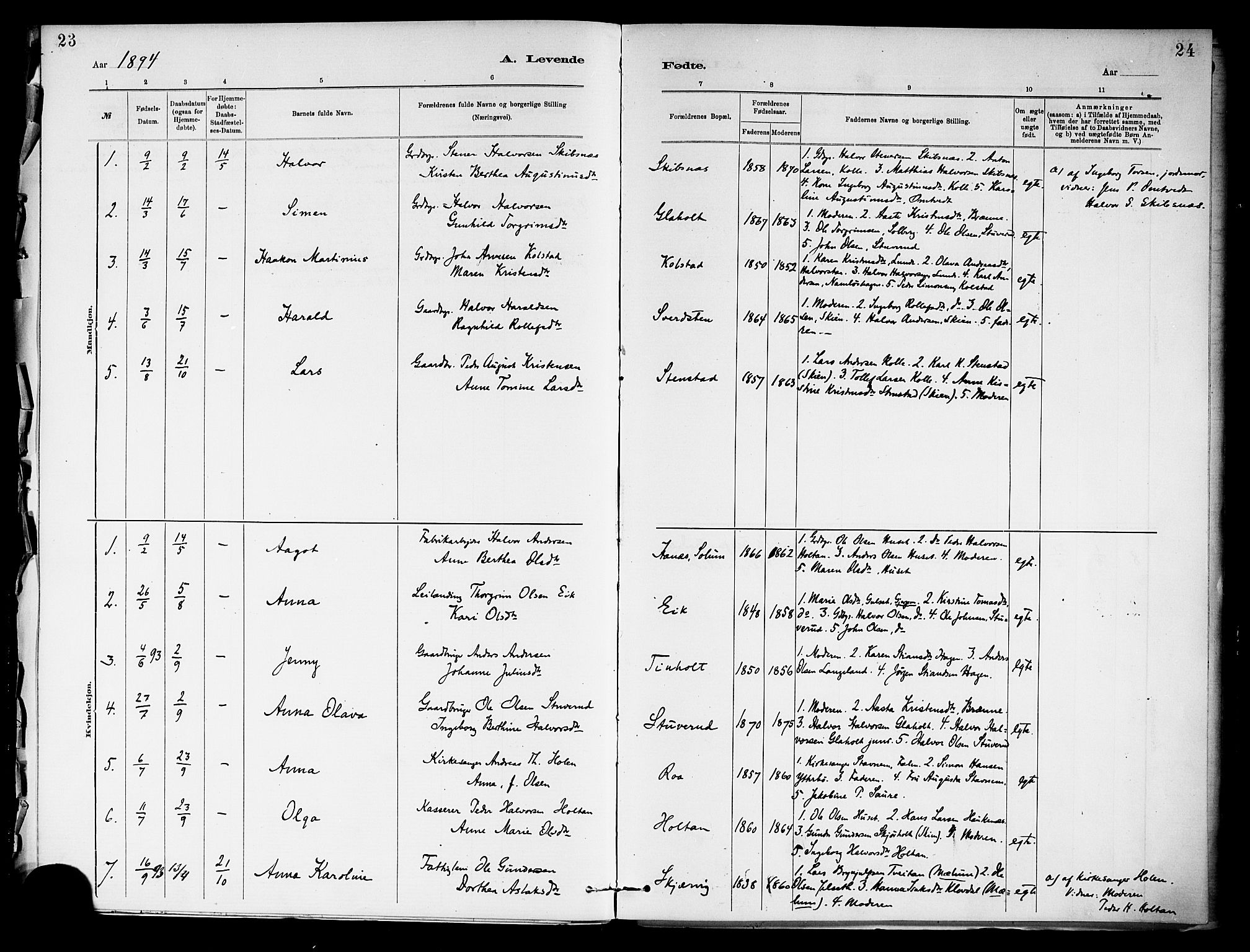 SAKO, Holla kirkebøker, F/Fa/L0009: Ministerialbok nr. 9, 1881-1897, s. 23