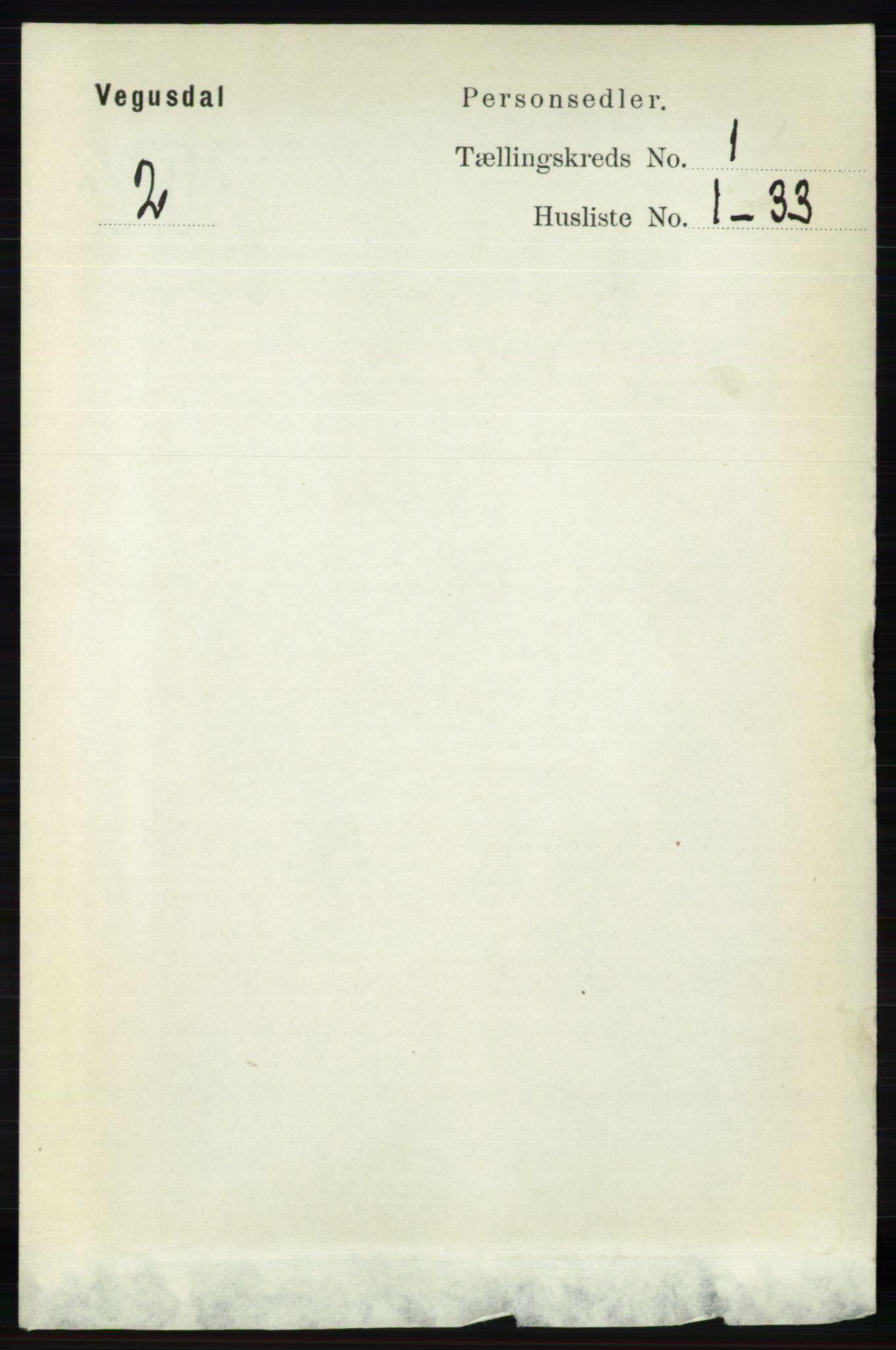 RA, Folketelling 1891 for 0934 Vegusdal herred, 1891, s. 53