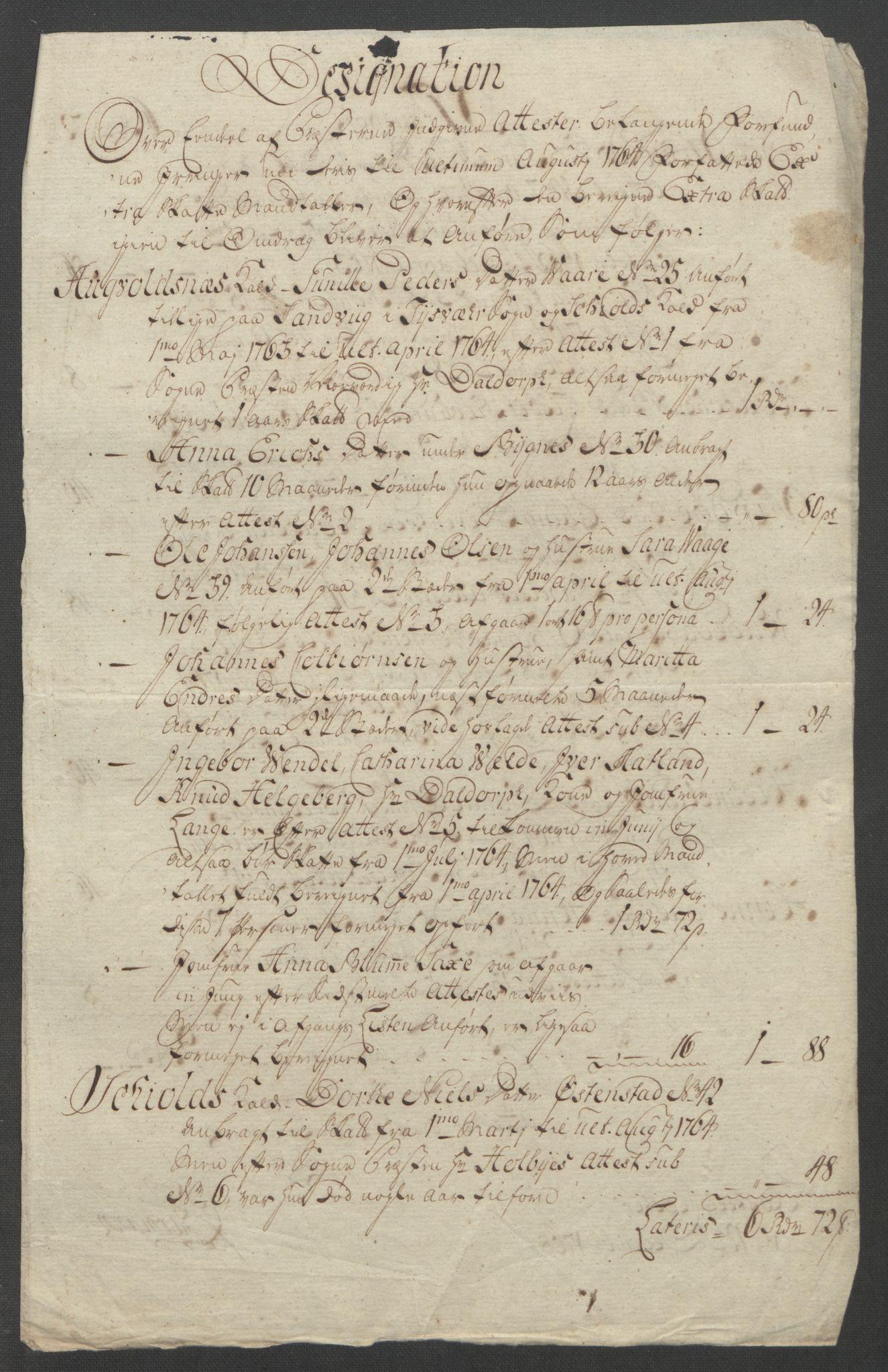 RA, Rentekammeret inntil 1814, Reviderte regnskaper, Fogderegnskap, R47/L2972: Ekstraskatten Ryfylke, 1762-1780, s. 82
