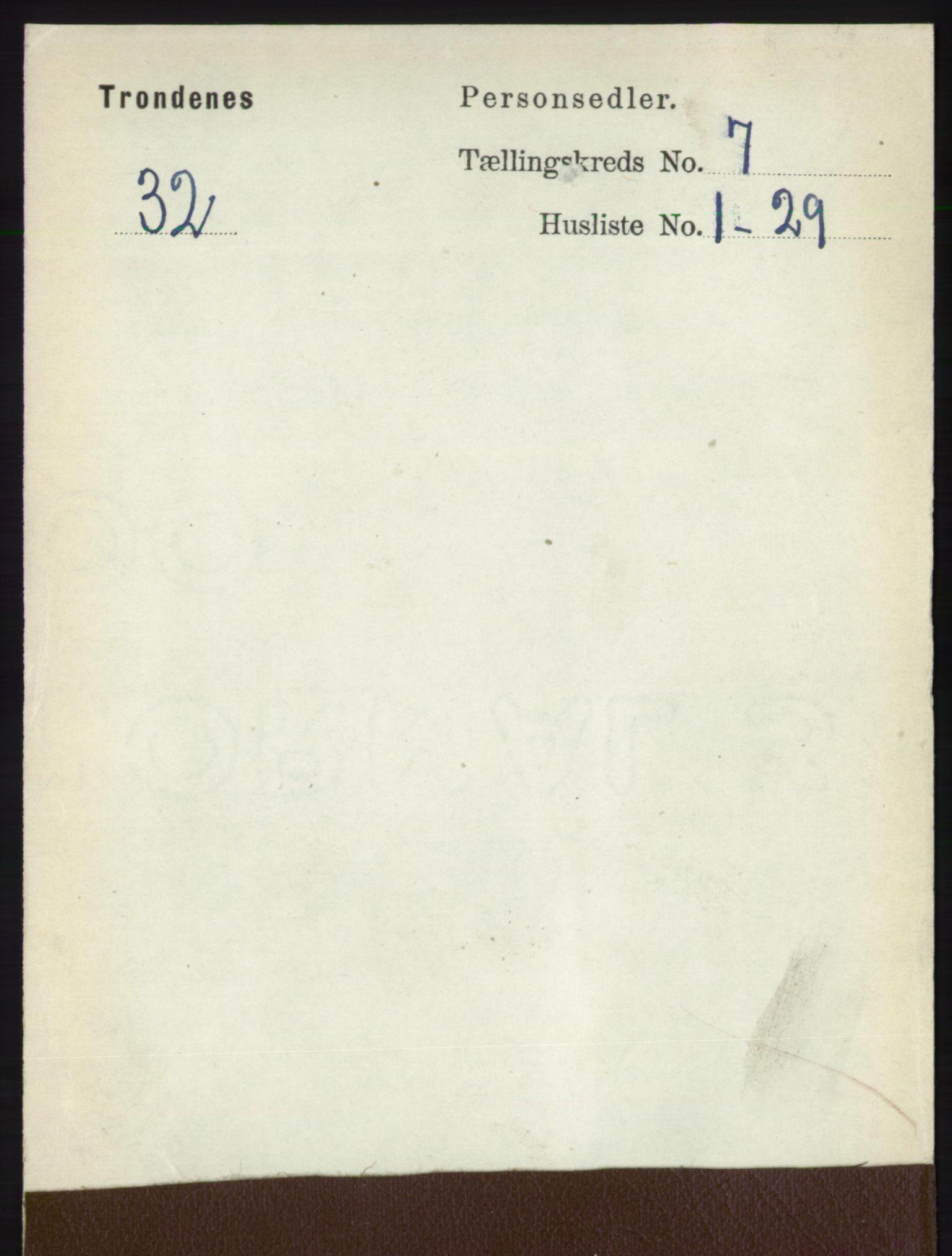 RA, Folketelling 1891 for 1914 Trondenes herred, 1891, s. 4505