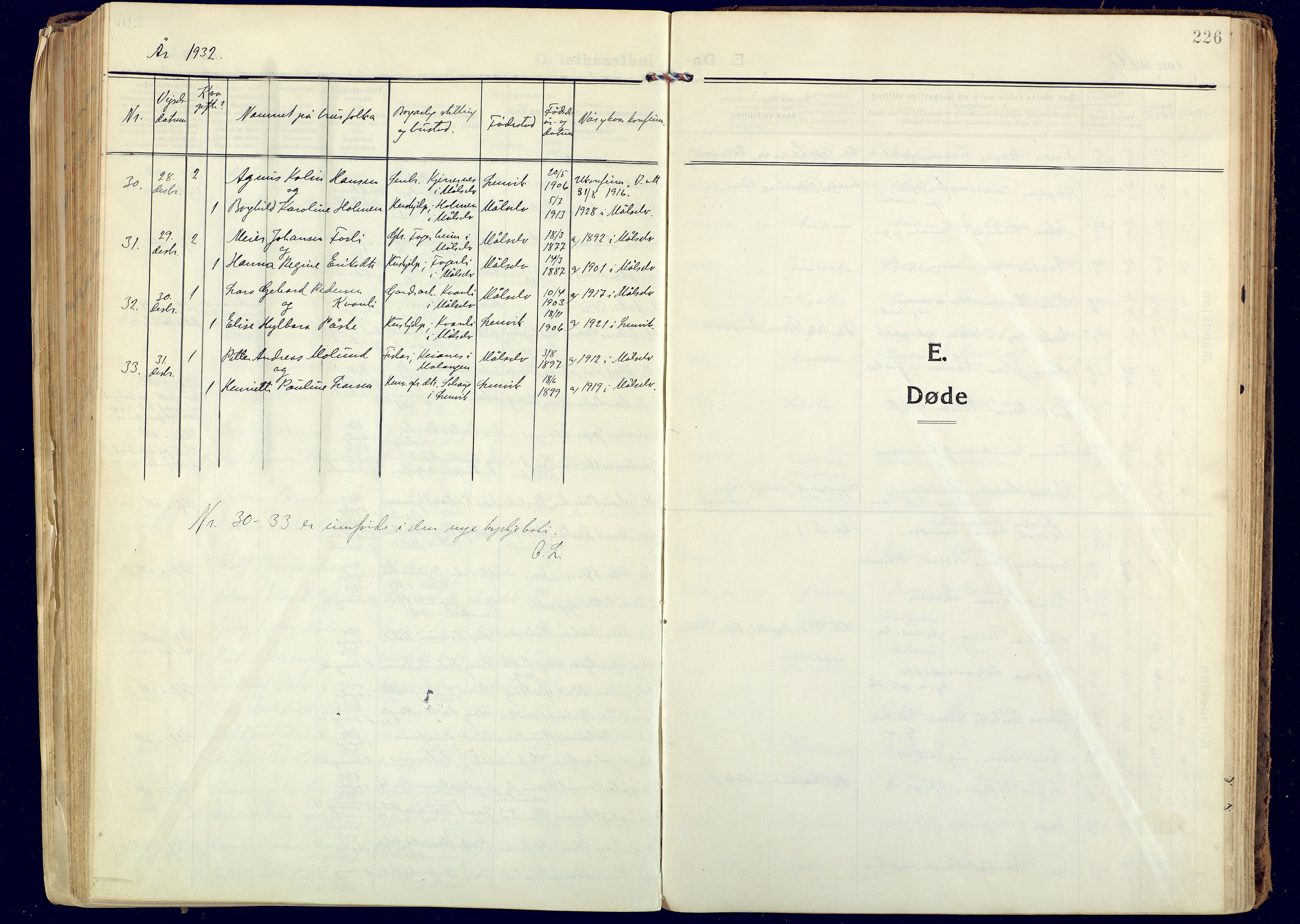 SATØ, Målselv sokneprestembete, Ministerialbok nr. 14, 1919-1932, s. 226