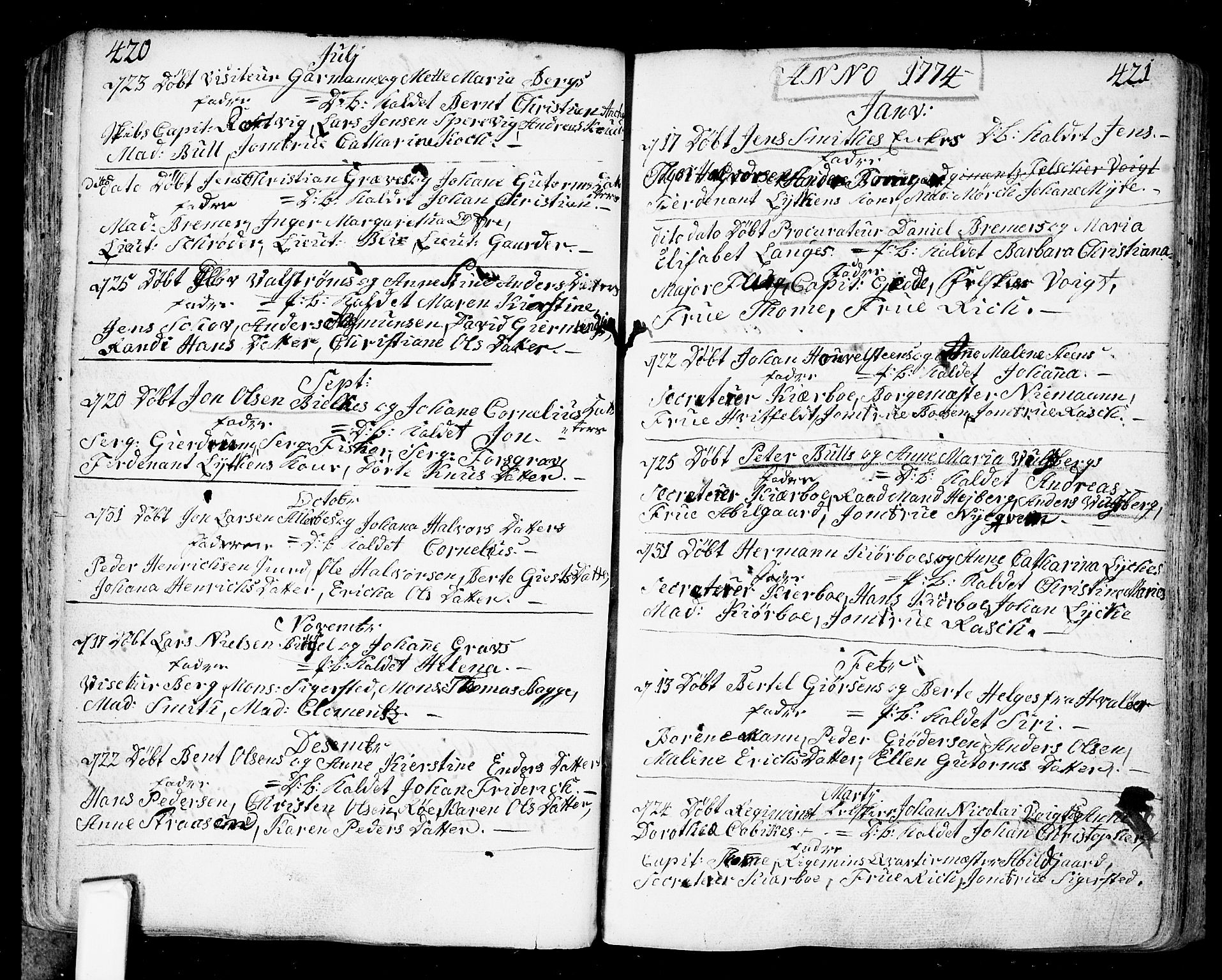 SAO, Fredrikstad prestekontor Kirkebøker, F/Fa/L0002: Ministerialbok nr. 2, 1750-1804, s. 420-421