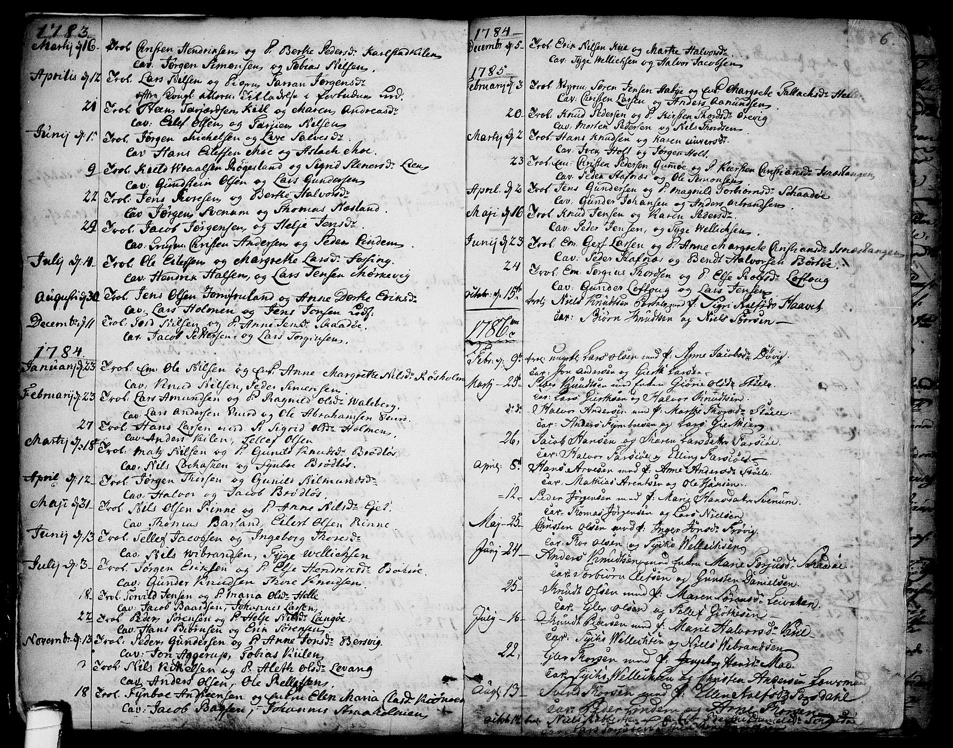 SAKO, Sannidal kirkebøker, F/Fa/L0002: Ministerialbok nr. 2, 1767-1802, s. 6