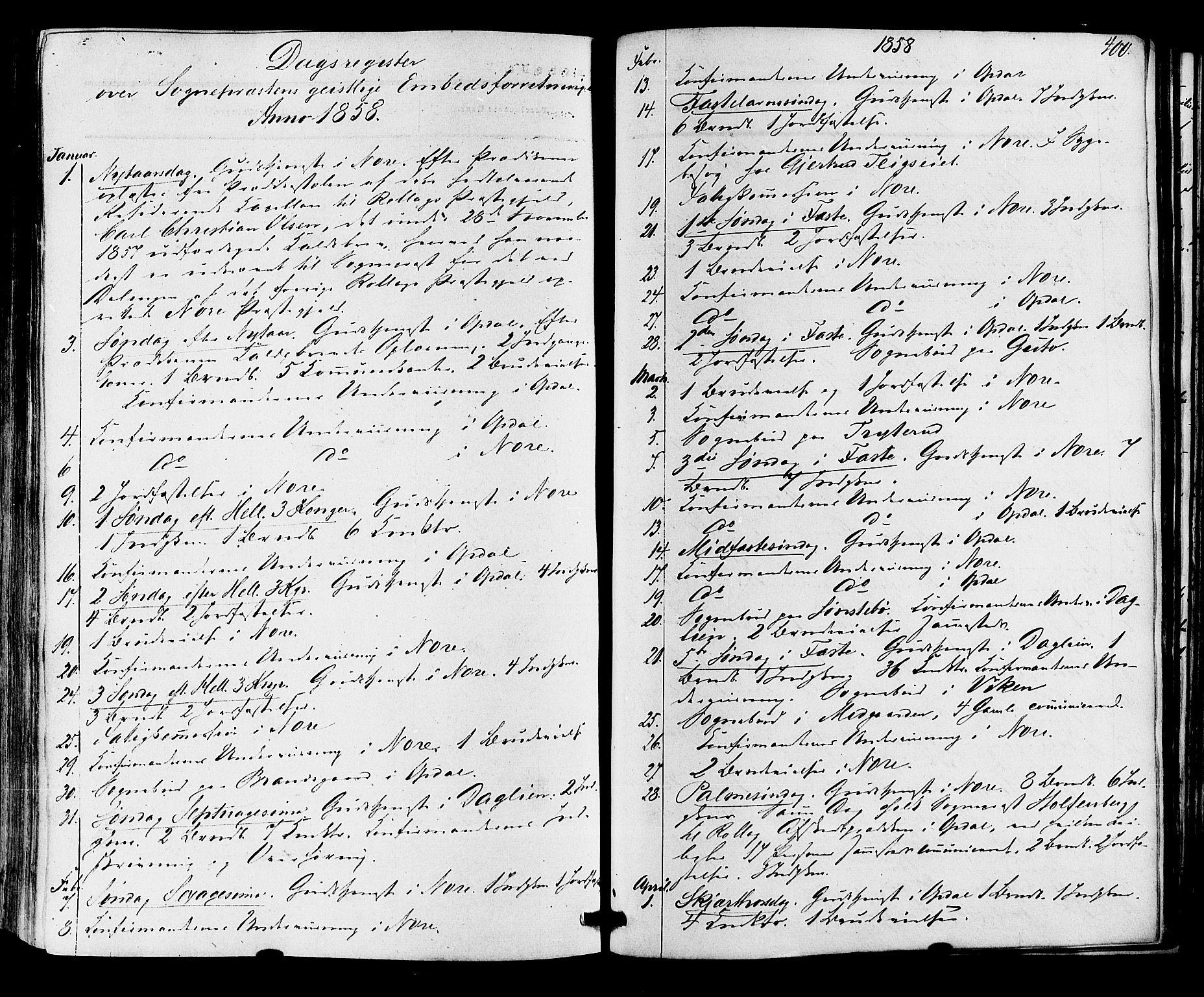 SAKO, Nore kirkebøker, F/Fa/L0003: Ministerialbok nr. I 3, 1858-1866, s. 400