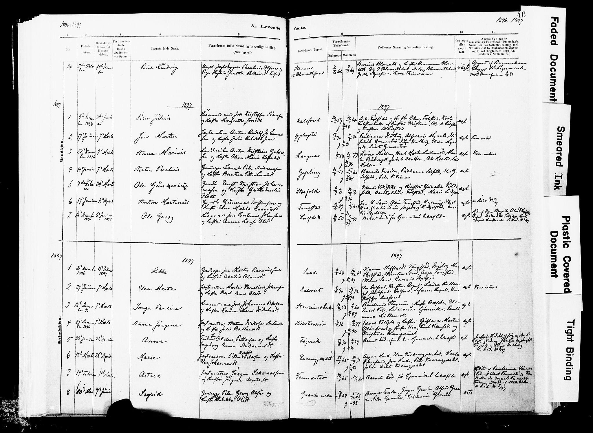 SAT, Ministerialprotokoller, klokkerbøker og fødselsregistre - Nord-Trøndelag, 744/L0420: Ministerialbok nr. 744A04, 1882-1904, s. 46