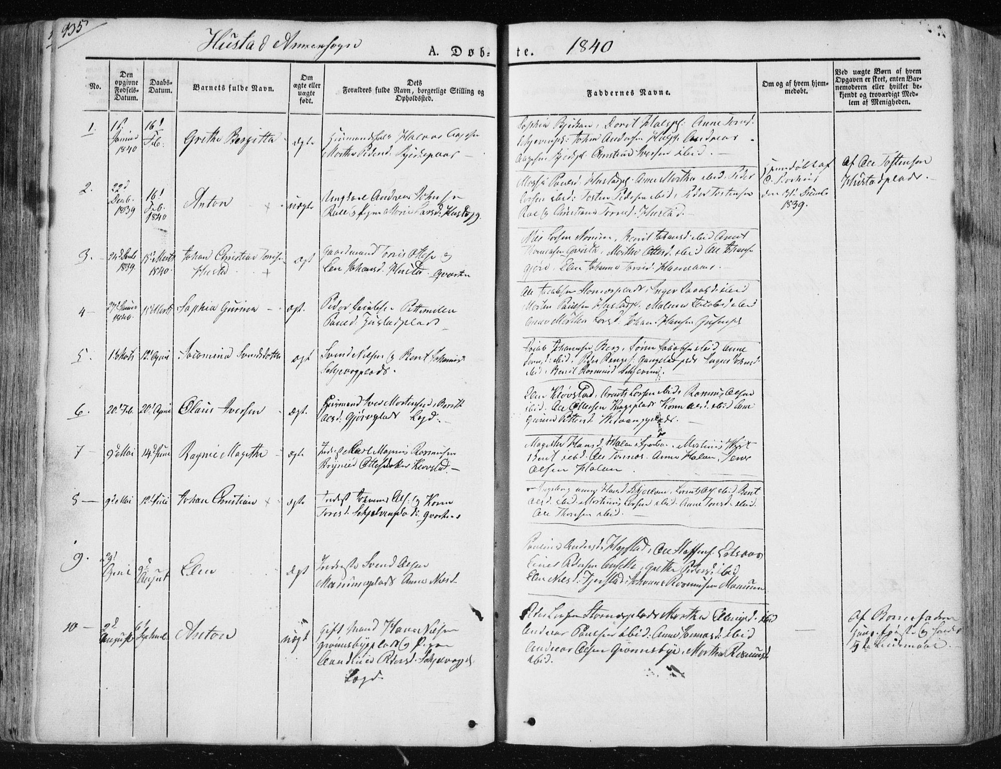 SAT, Ministerialprotokoller, klokkerbøker og fødselsregistre - Nord-Trøndelag, 730/L0280: Ministerialbok nr. 730A07 /3, 1840-1854, s. 135
