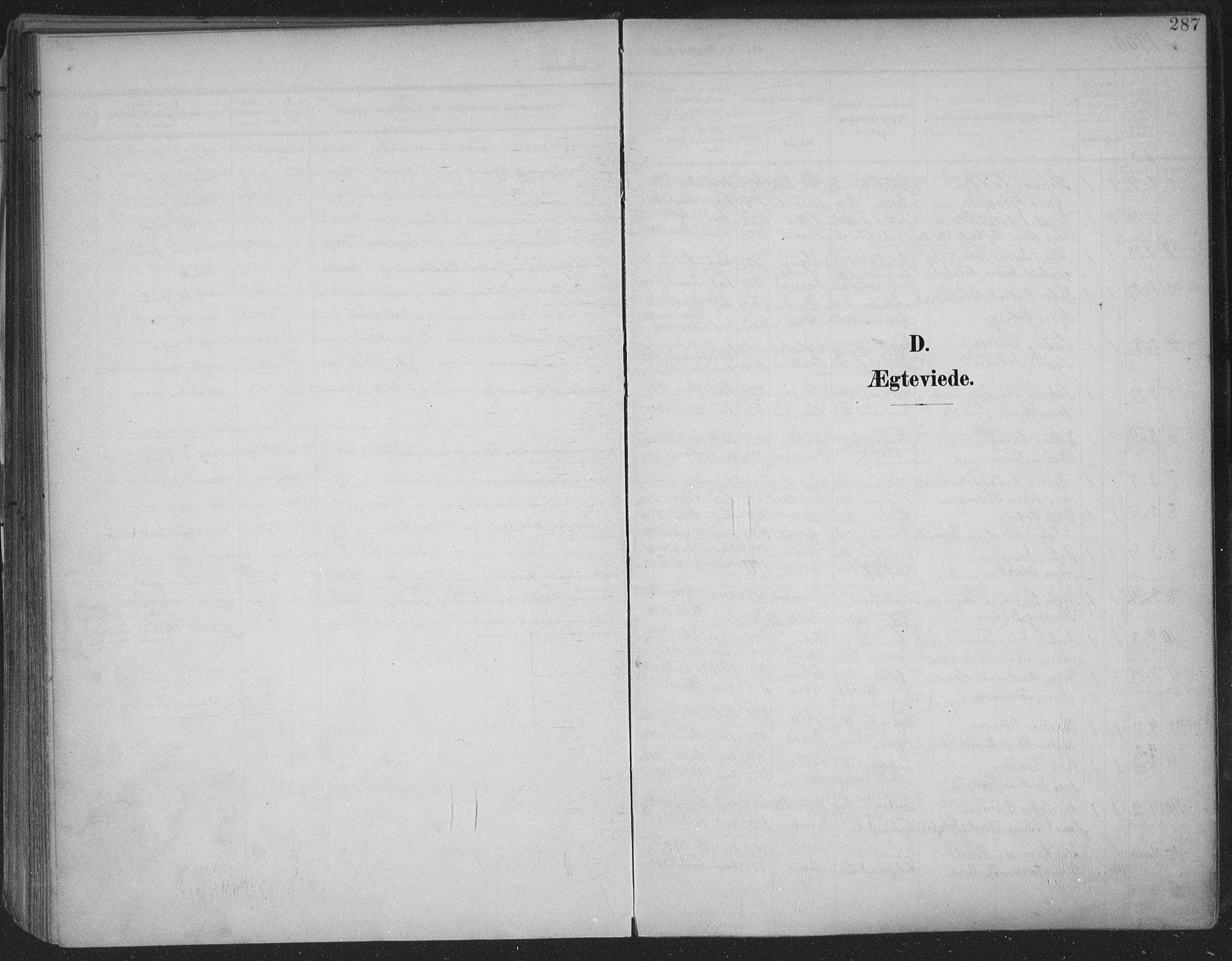 SAKO, Skien kirkebøker, F/Fa/L0011: Ministerialbok nr. 11, 1900-1907, s. 287