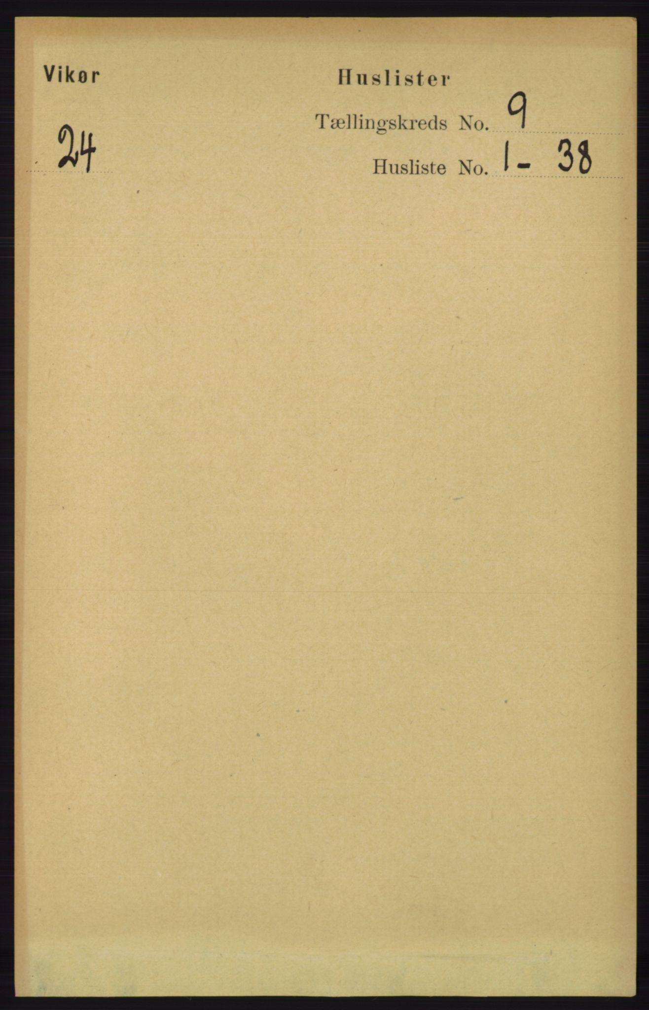 RA, Folketelling 1891 for 1238 Vikør herred, 1891, s. 2619
