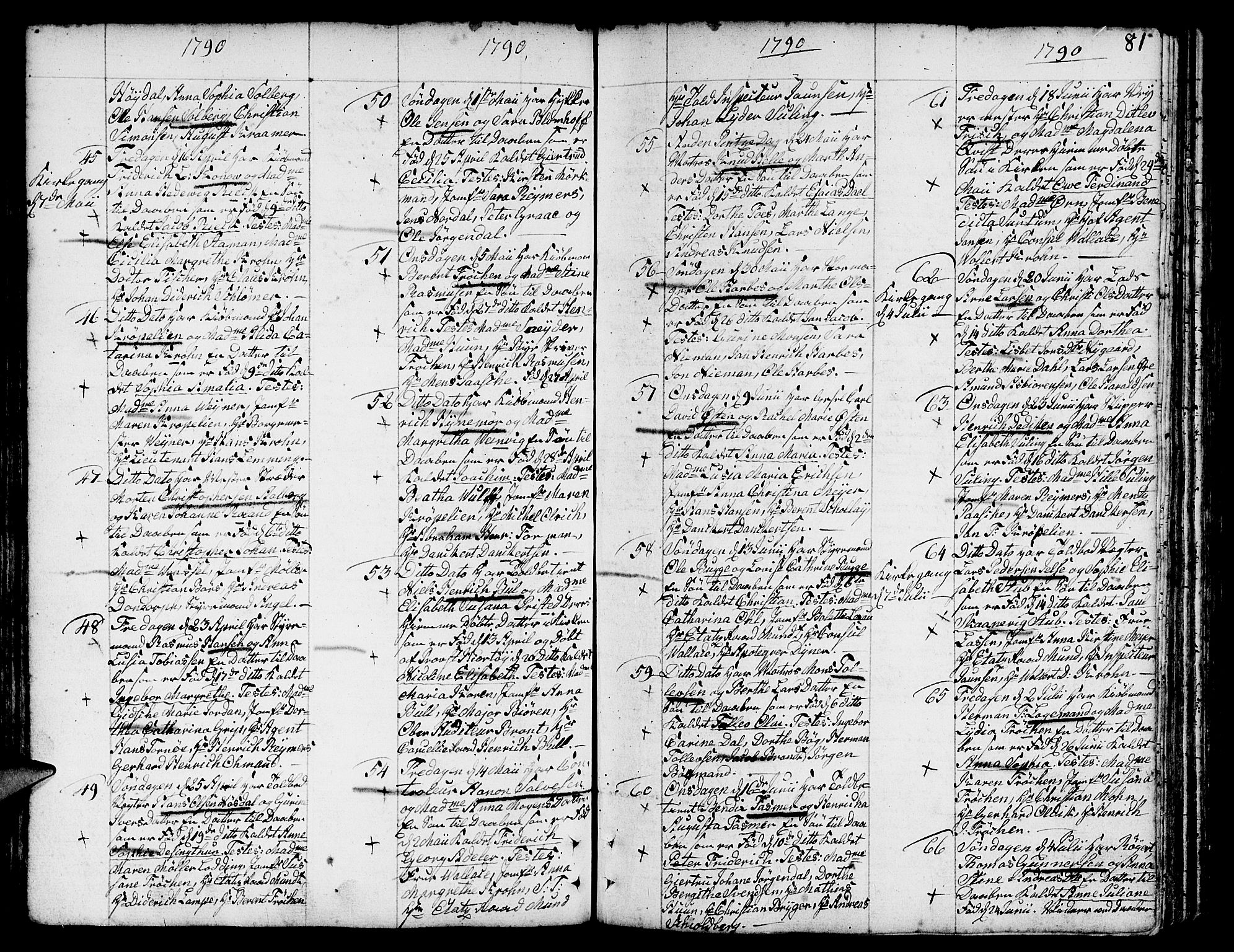 SAB, Nykirken Sokneprestembete, H/Haa: Ministerialbok nr. A 5, 1775-1808, s. 81