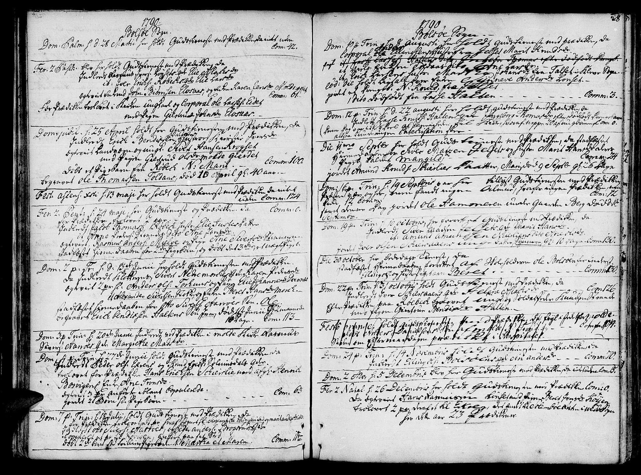 SAT, Ministerialprotokoller, klokkerbøker og fødselsregistre - Møre og Romsdal, 555/L0648: Ministerialbok nr. 555A01, 1759-1793, s. 28