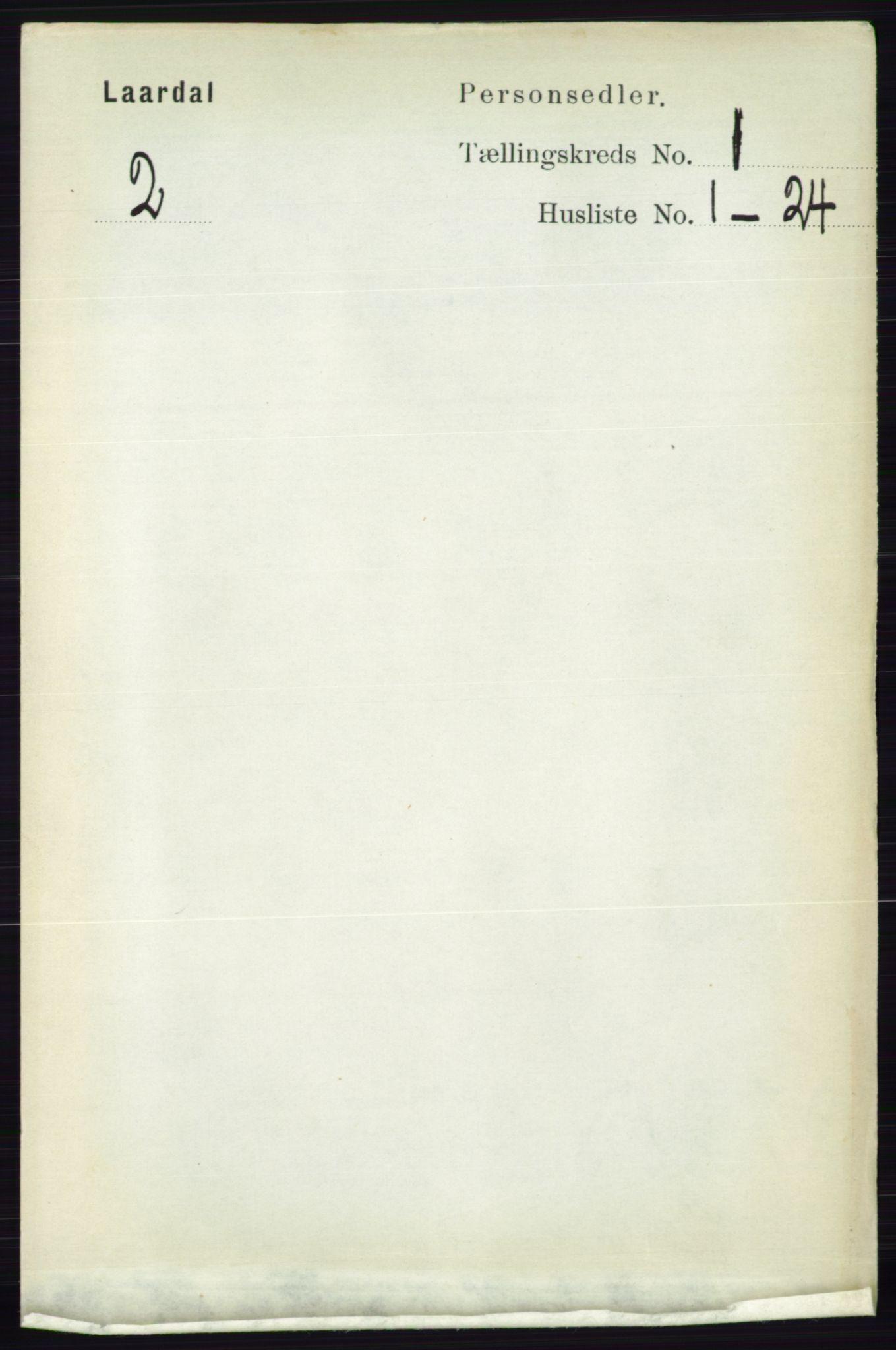 RA, Folketelling 1891 for 0833 Lårdal herred, 1891, s. 98
