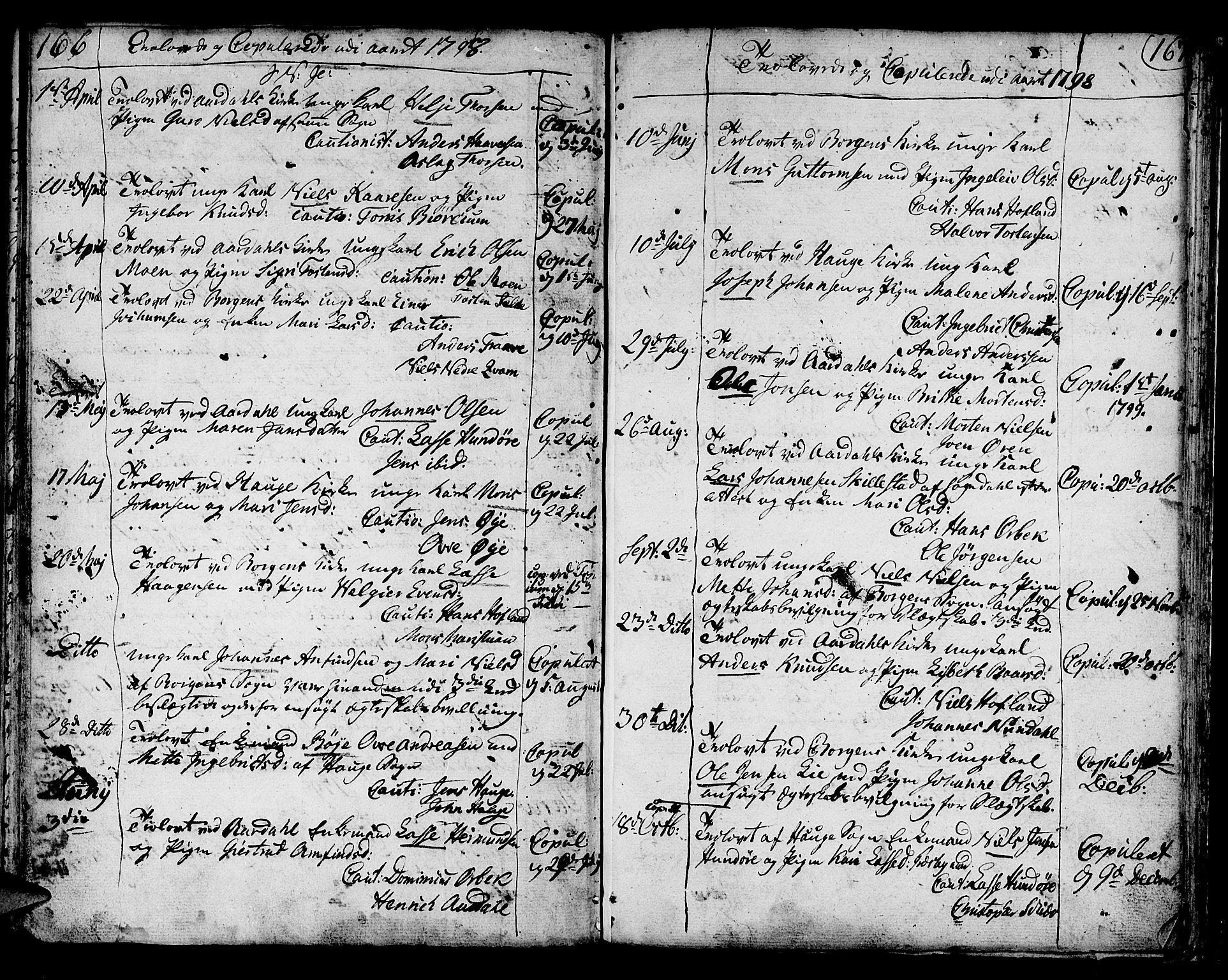 SAB, Lærdal sokneprestembete, Ministerialbok nr. A 3, 1783-1804, s. 167