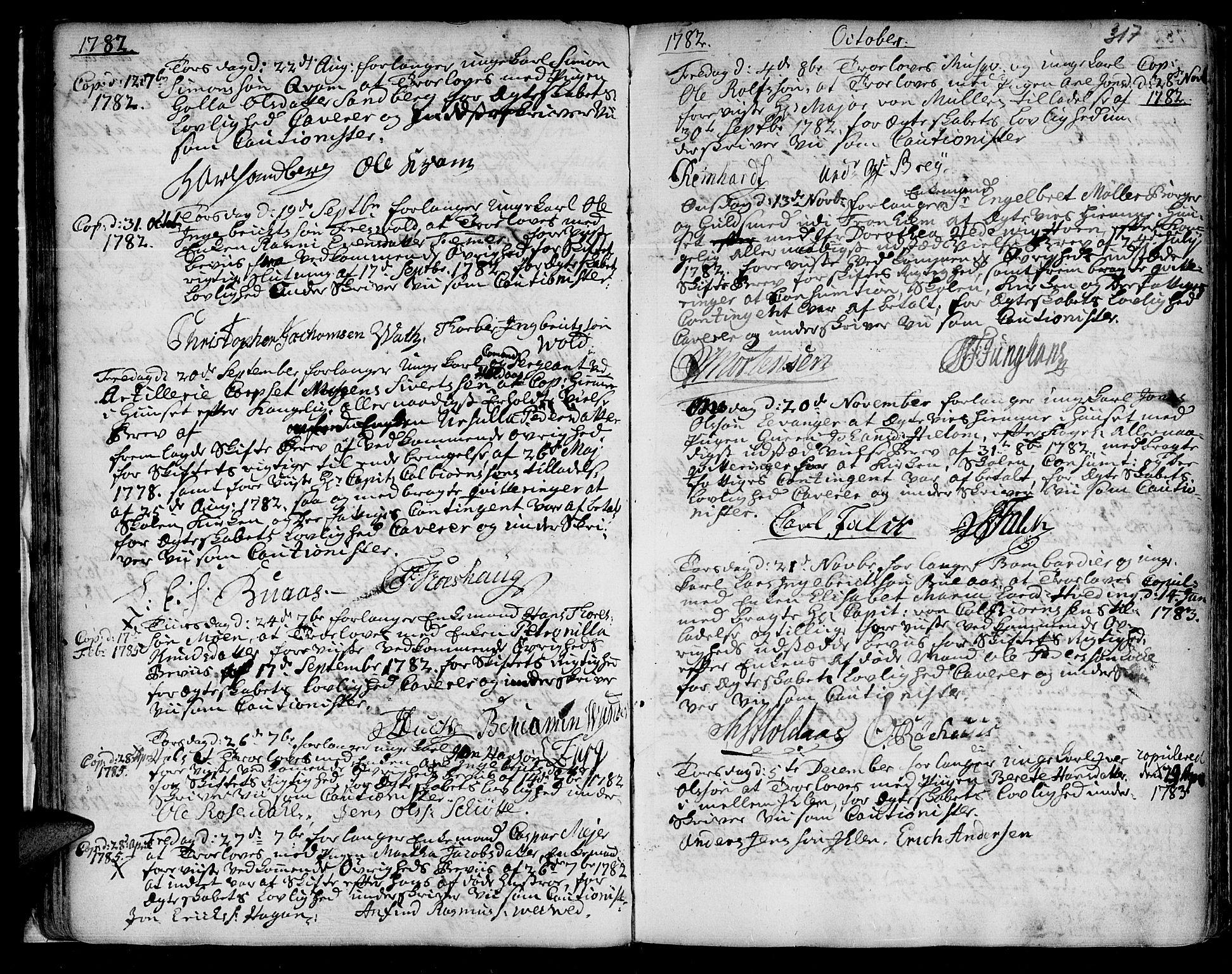 SAT, Ministerialprotokoller, klokkerbøker og fødselsregistre - Sør-Trøndelag, 601/L0038: Ministerialbok nr. 601A06, 1766-1877, s. 317