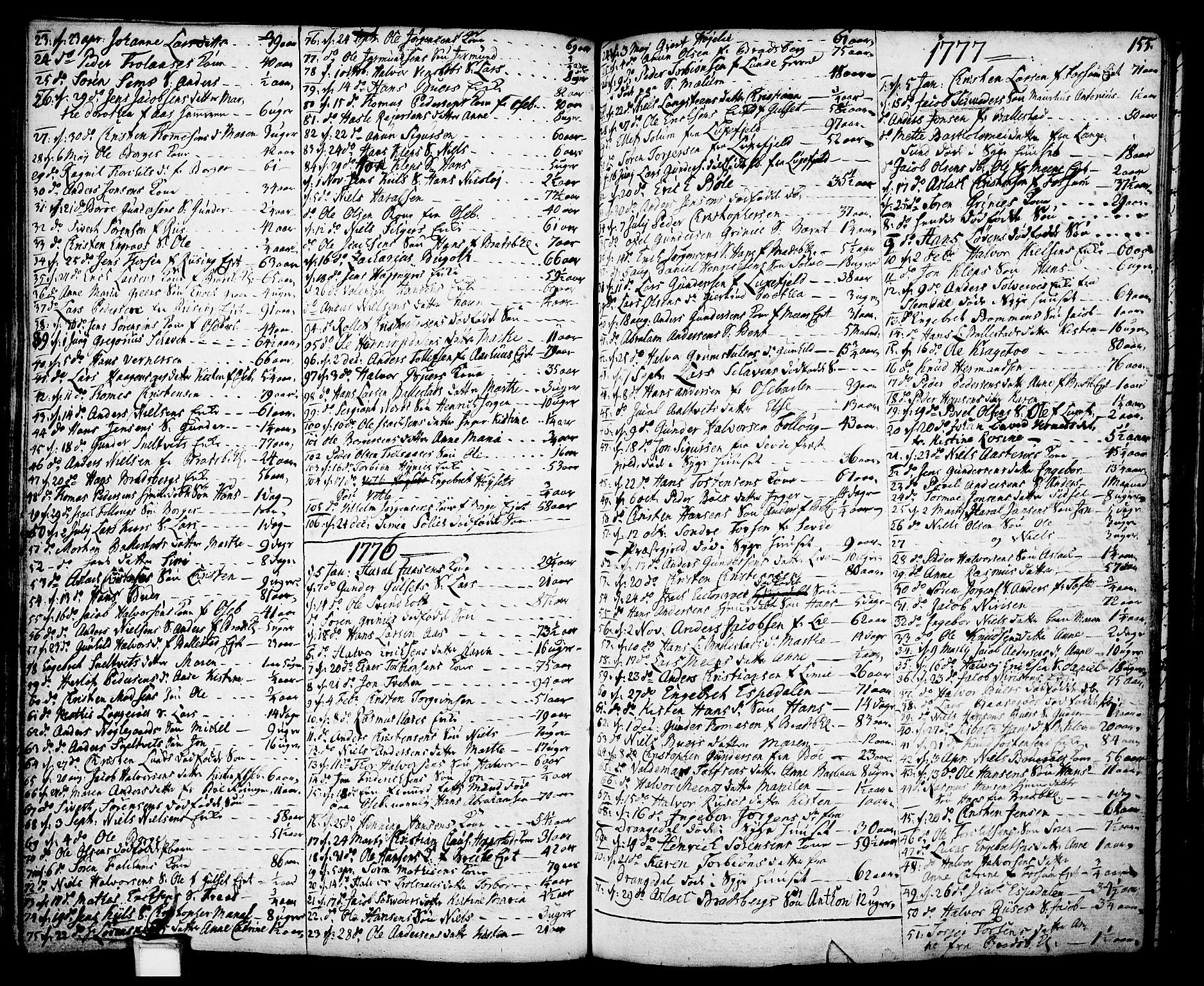 SAKO, Gjerpen kirkebøker, F/Fa/L0002: Ministerialbok nr. 2, 1747-1795, s. 155
